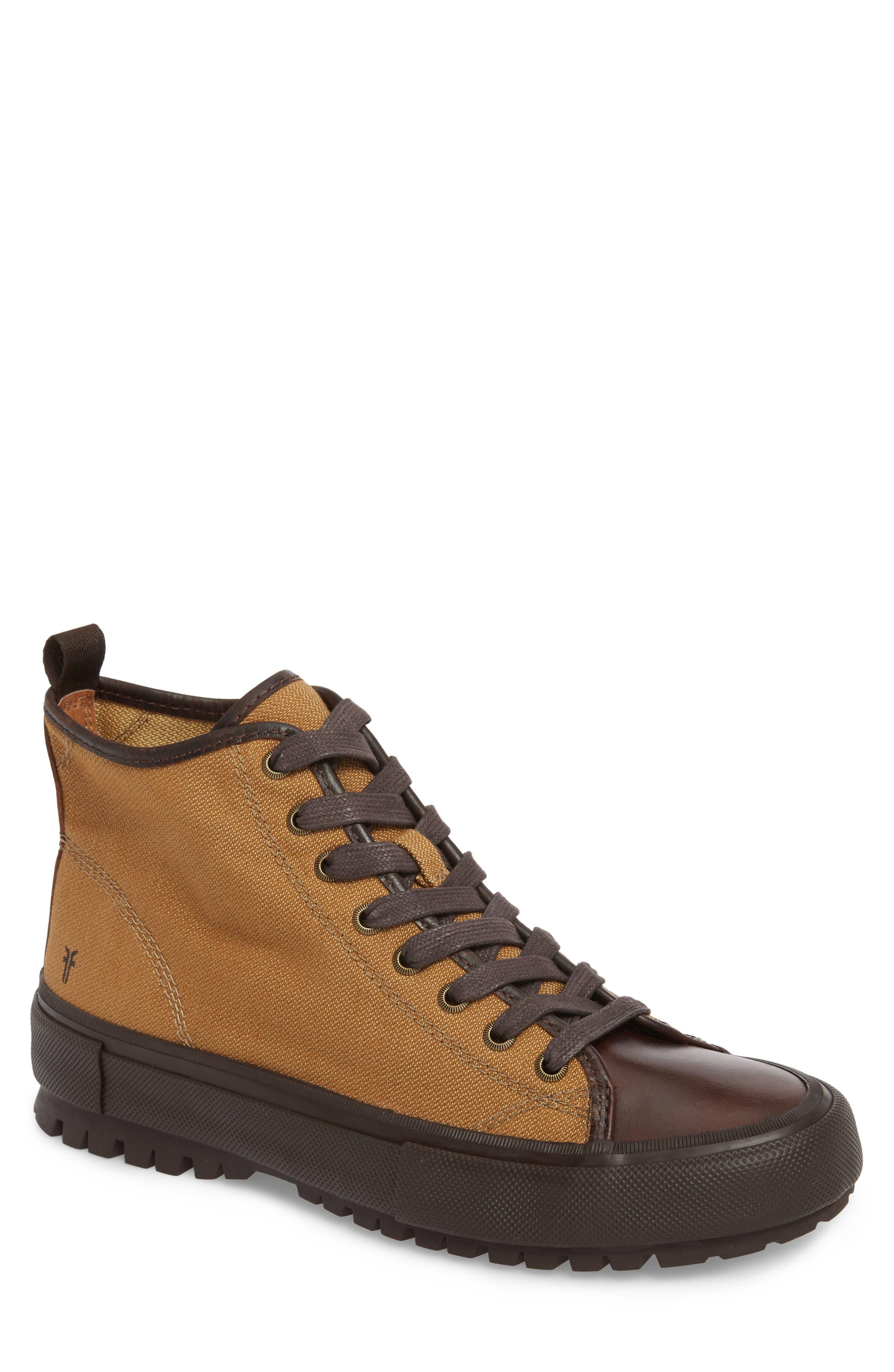 Ryan Lugged Sneaker Boot,                             Main thumbnail 1, color,                             Tan Canvas