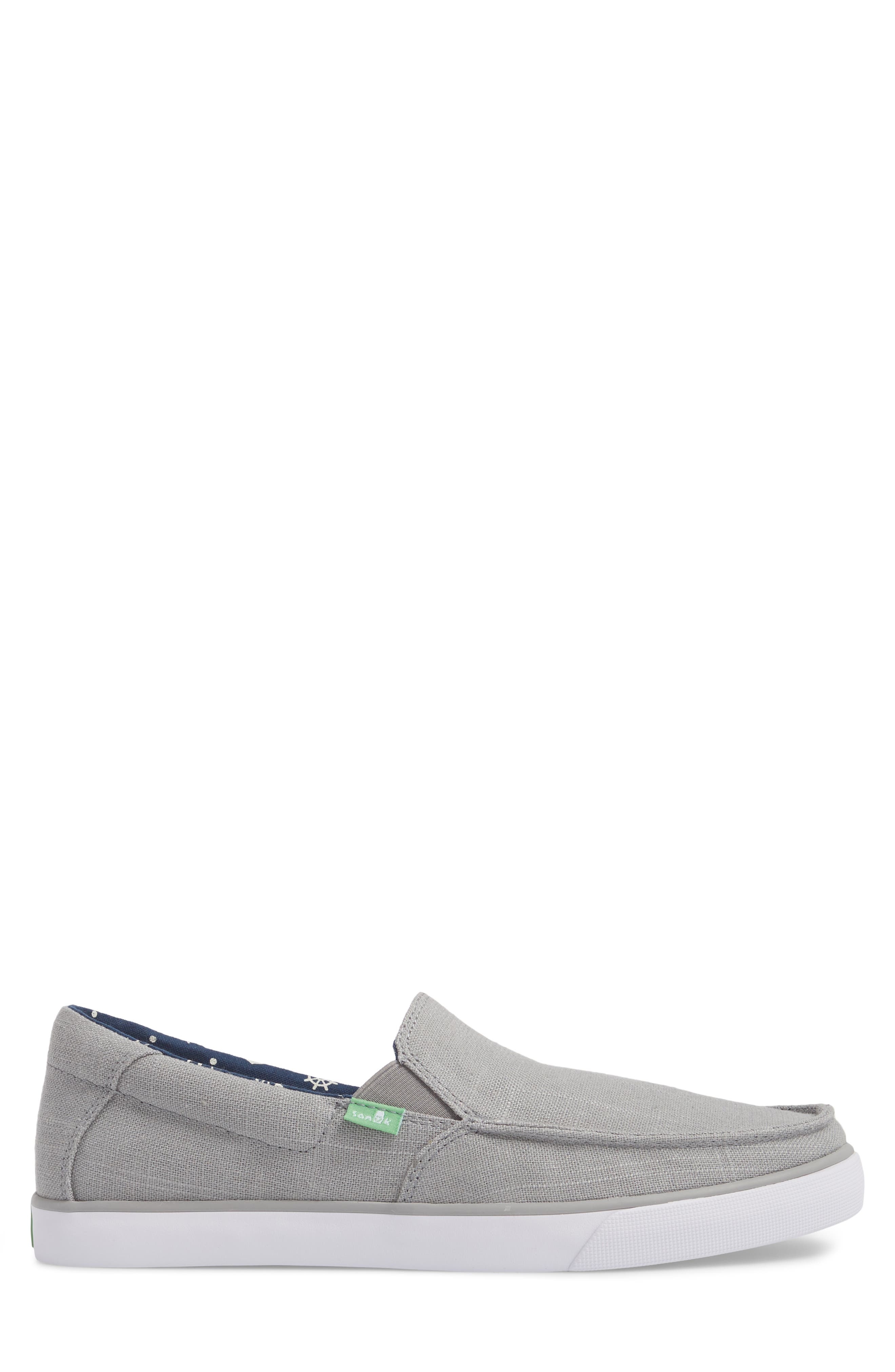 Sideline Linen Slip-On,                             Alternate thumbnail 3, color,                             Grey