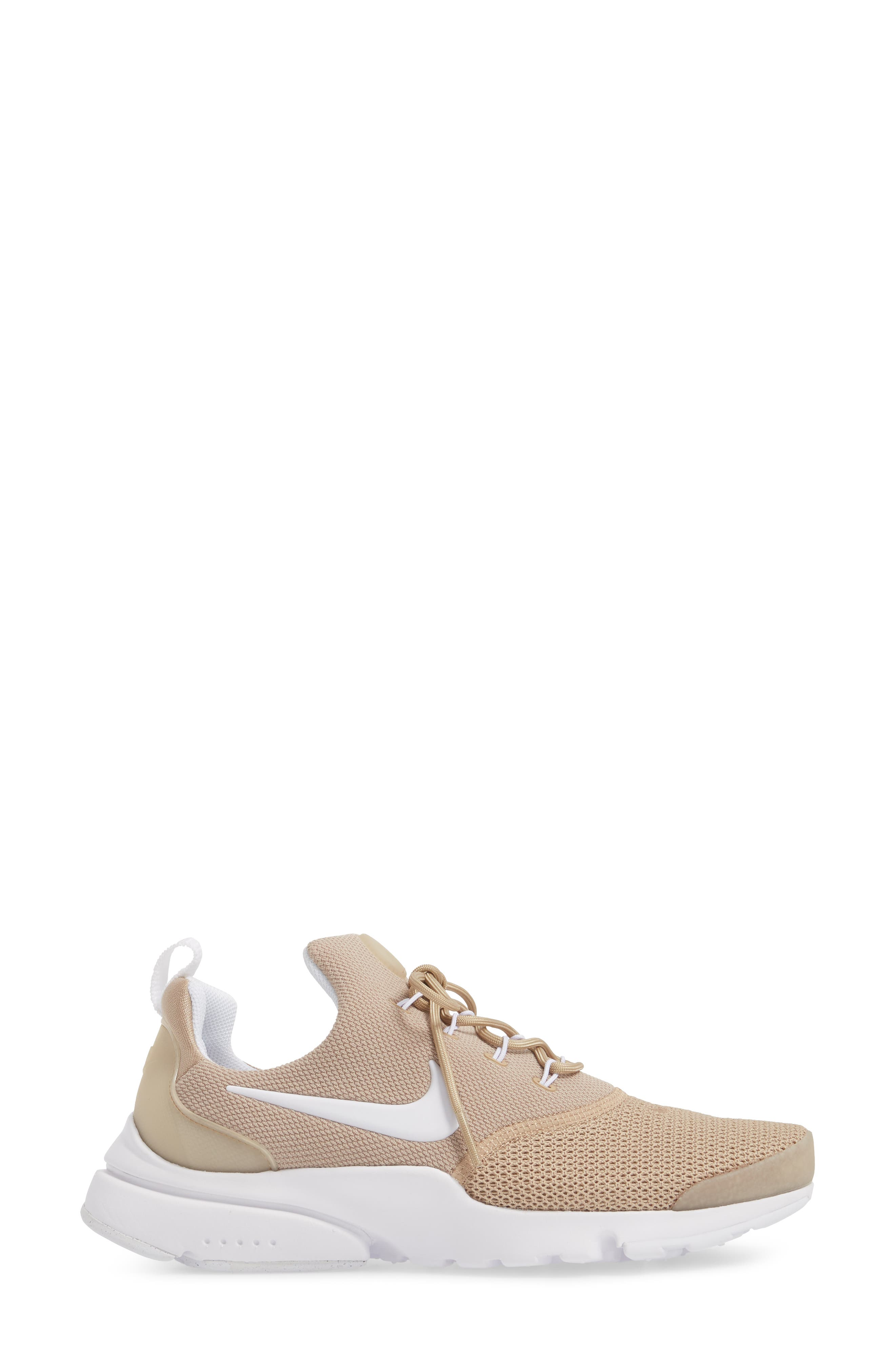 Presto Fly Sneaker,                             Alternate thumbnail 5, color,                             Sand/ White