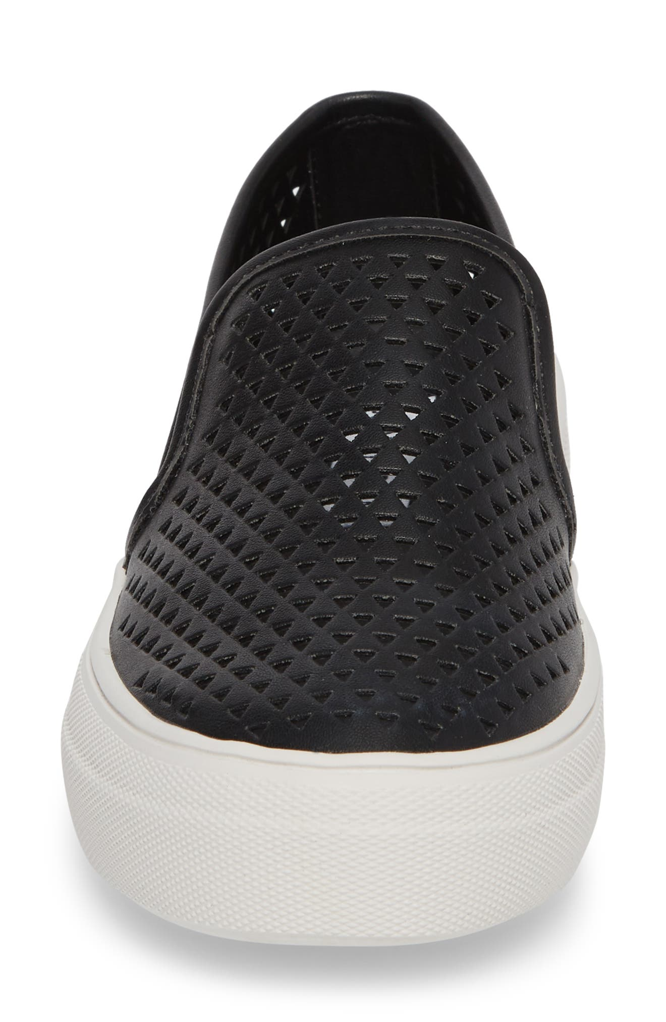 Gal-P Perforated Slip-On Sneaker,                             Alternate thumbnail 4, color,                             Black