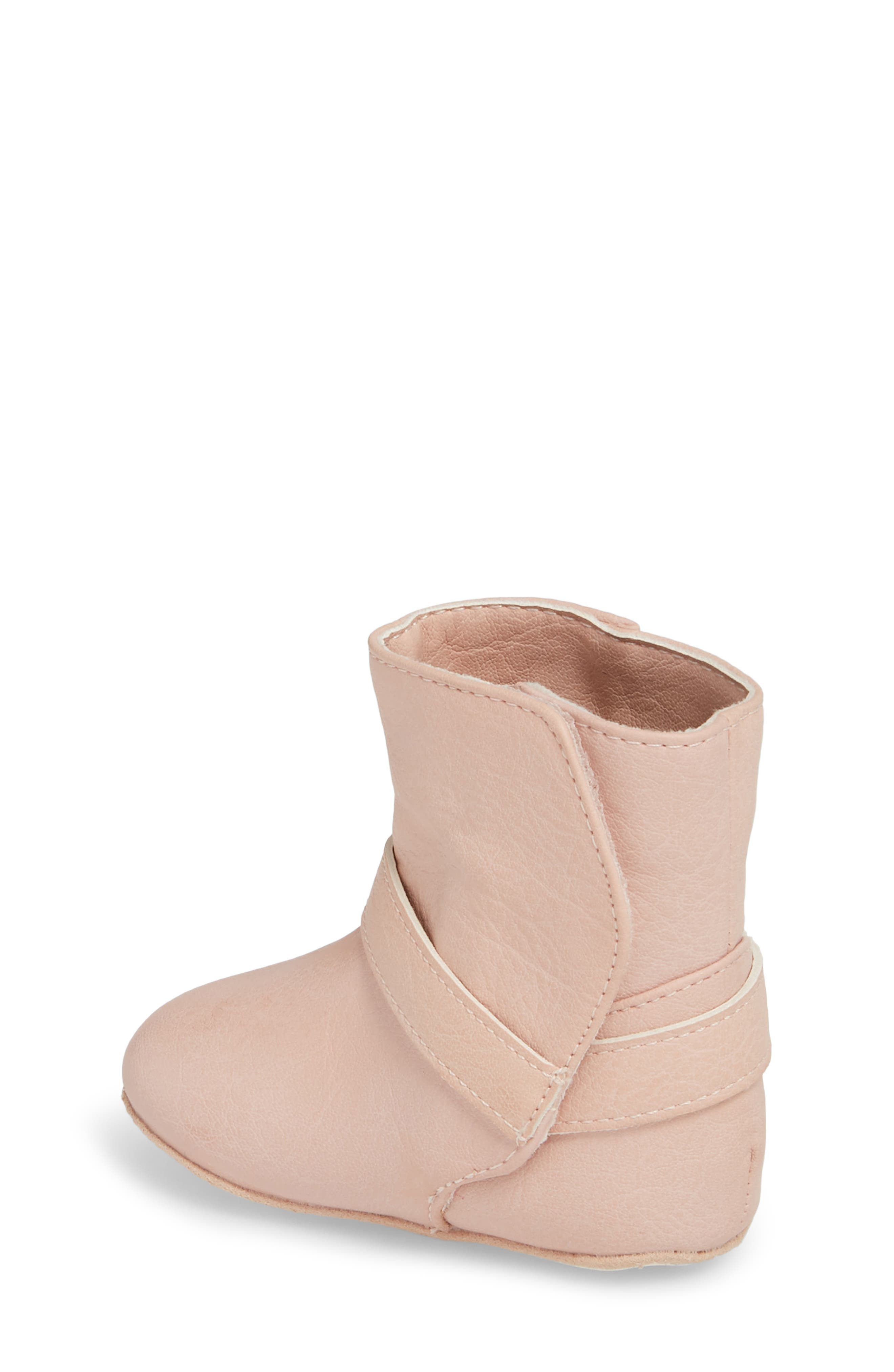 Harness Boot Crib Shoe,                             Alternate thumbnail 2, color,                             Baby Pink