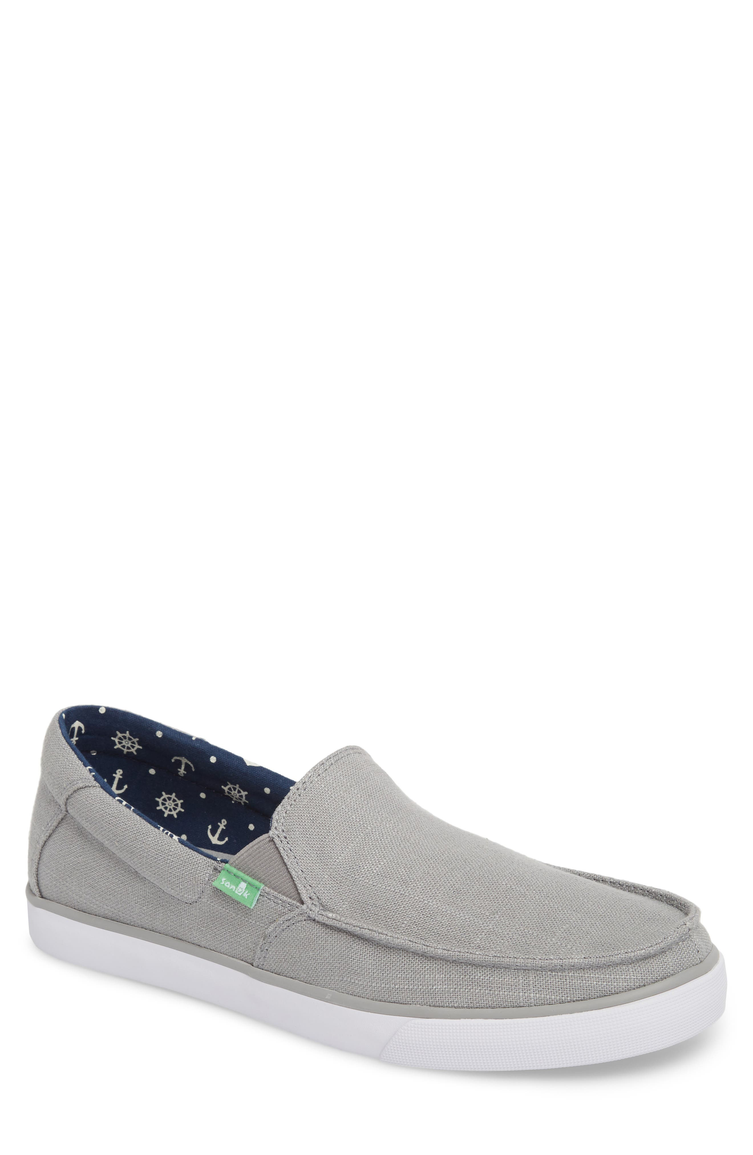 Sideline Linen Slip-On,                         Main,                         color, Grey