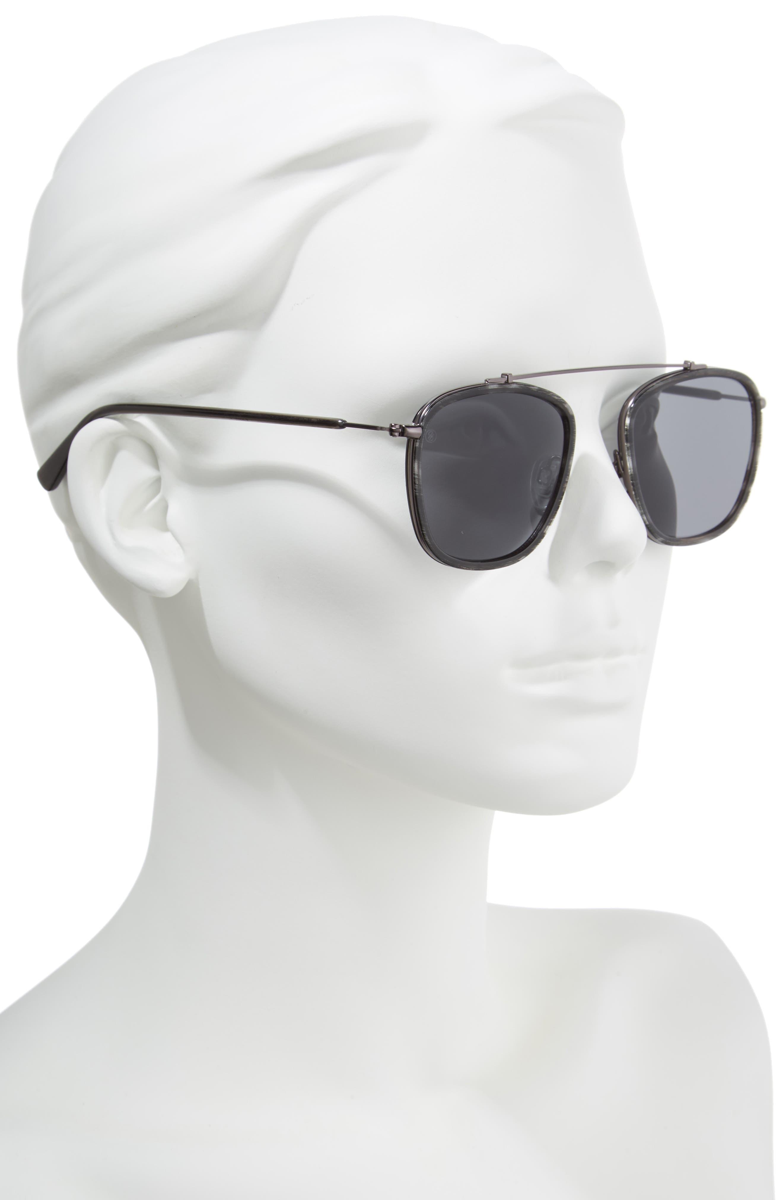 D'BLANC Ceremony 51mm Square Sunglasses,                             Alternate thumbnail 2, color,                             Charcoal Etch/ Grey