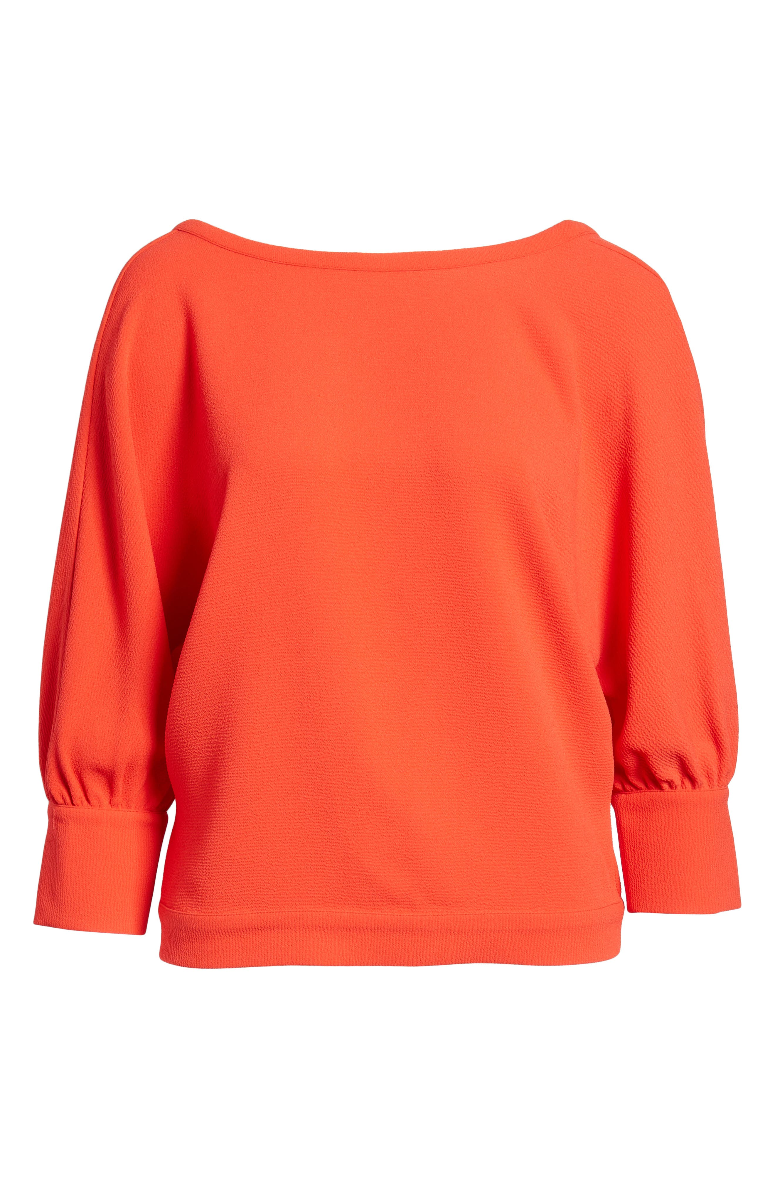 Dolman Sleeve Top,                             Alternate thumbnail 7, color,                             Red Poppy
