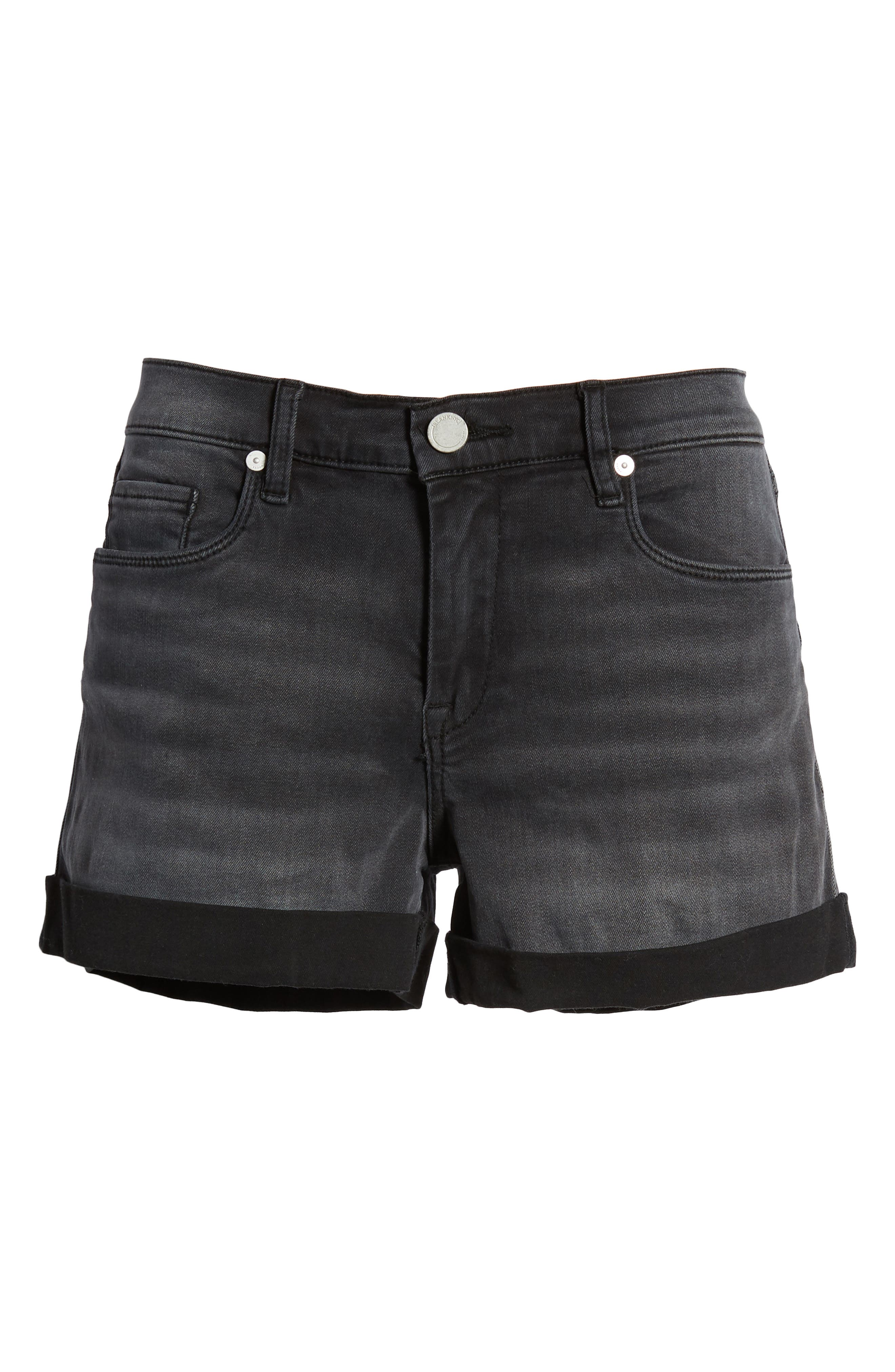 Alternate Image 6  - BLANKNYC The Fulton Cuff Hem Denim Shorts (Last Light)
