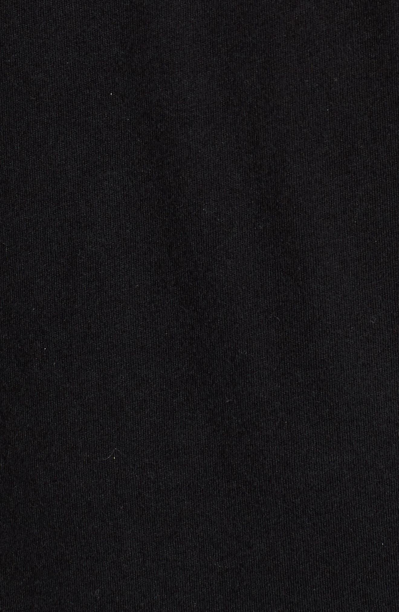 Camo Metallic V-Neck Tee,                             Alternate thumbnail 4, color,                             Black