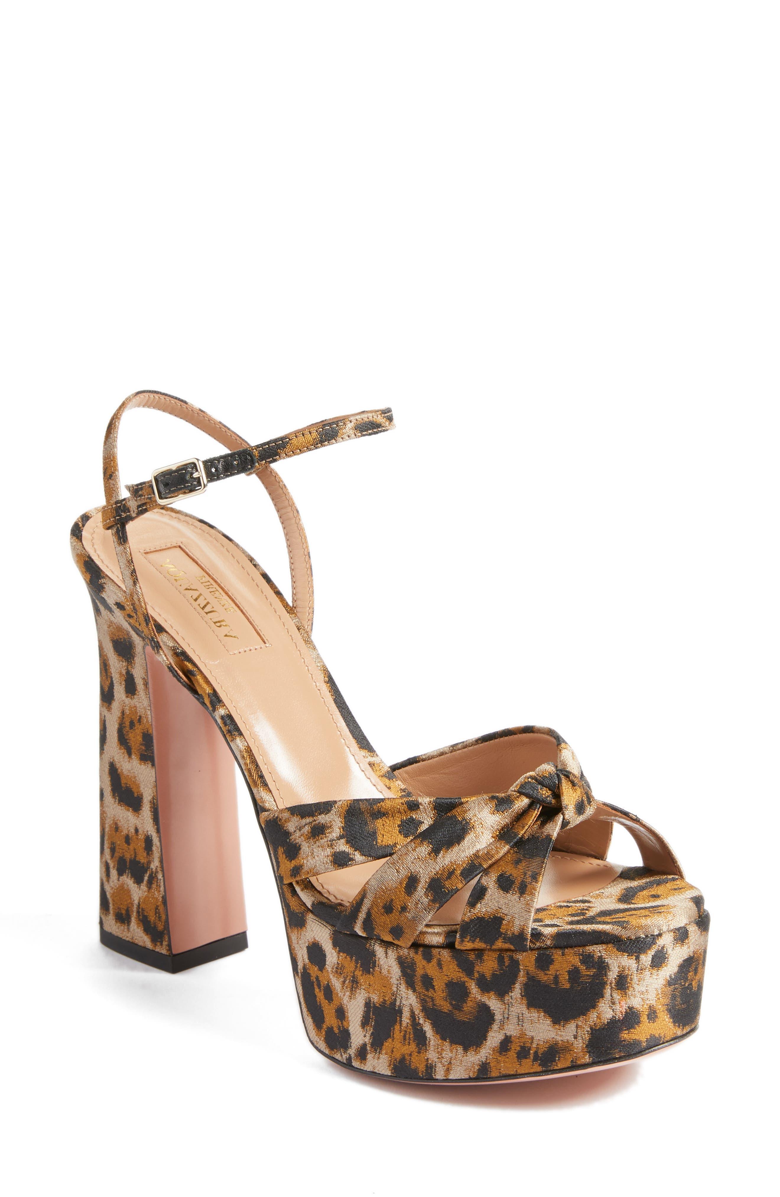 Baba Platform Sandal,                             Main thumbnail 1, color,                             Leopard