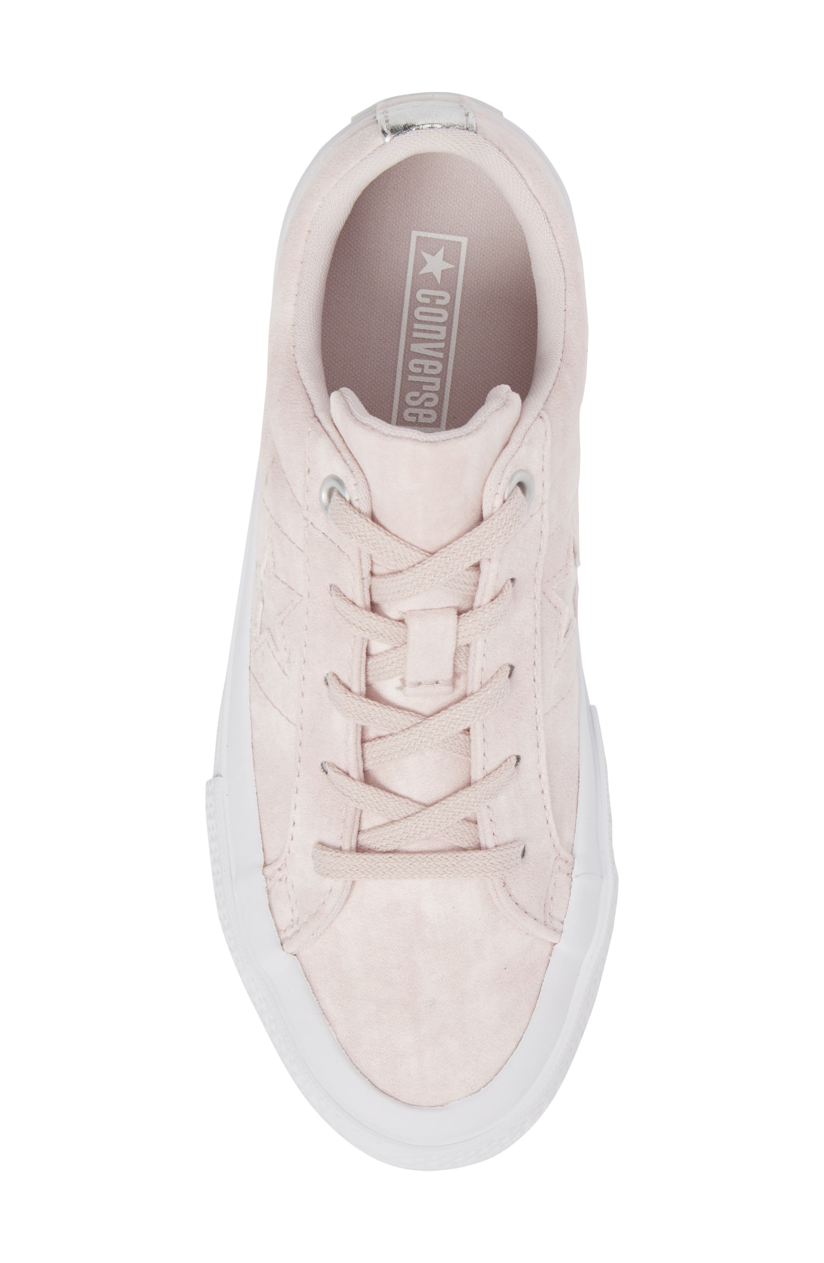 Chuck Taylor<sup>®</sup> All Star<sup>®</sup> Star Sneaker,                             Alternate thumbnail 5, color,                             Barely Rose