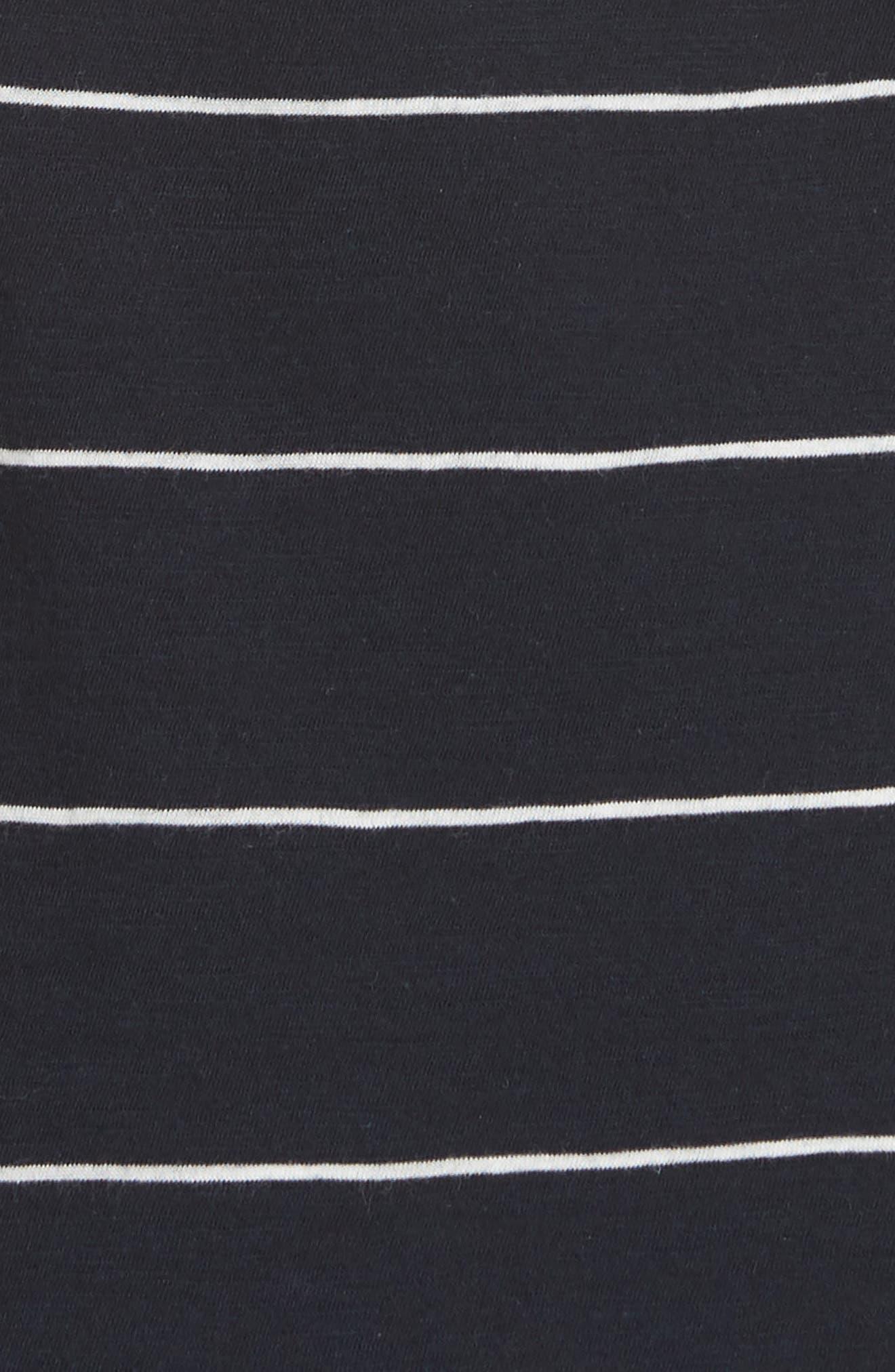 Skinny Stripe Pima Cotton Tank,                             Alternate thumbnail 5, color,                             Coastal/ Vanilla