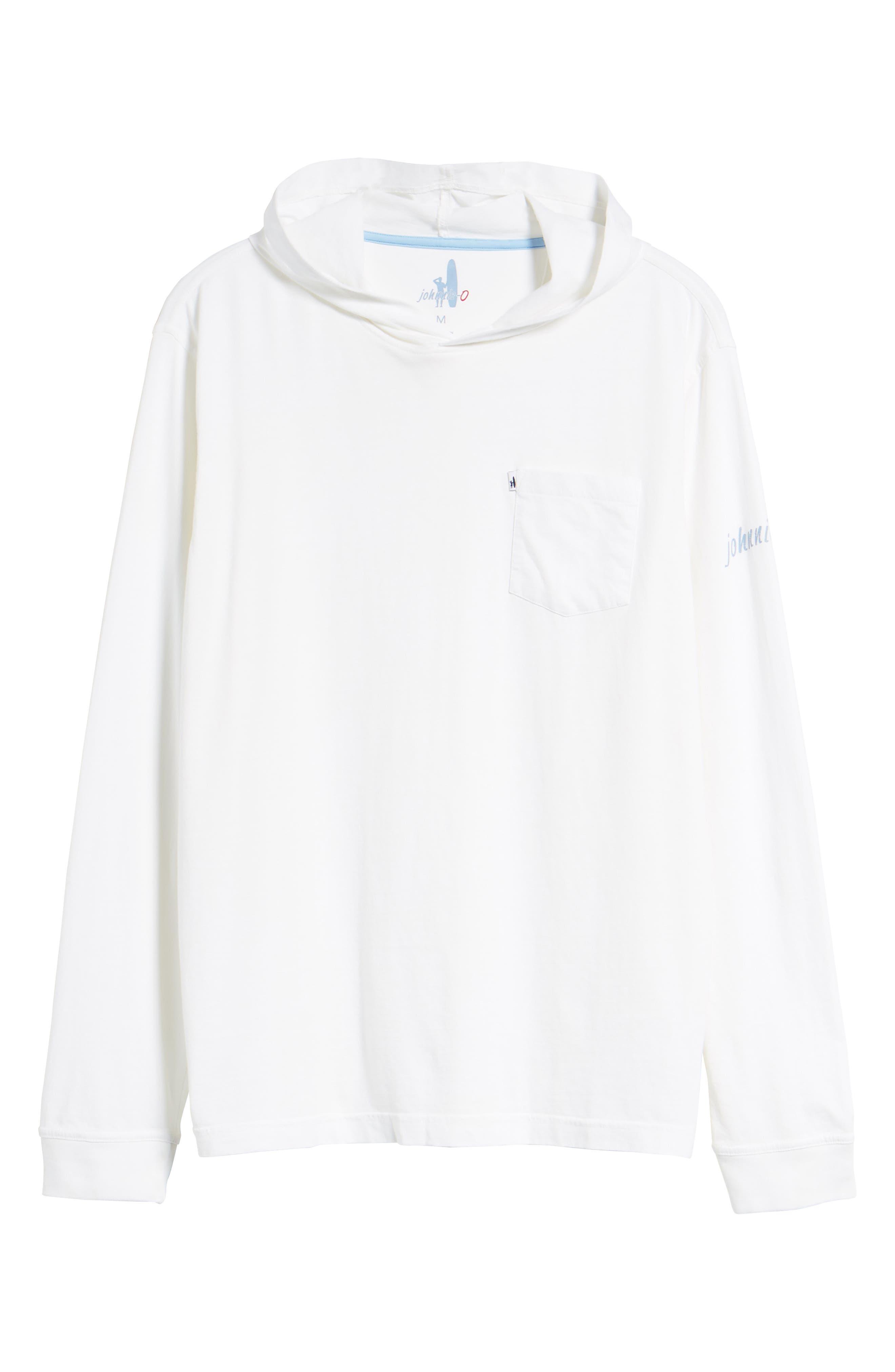 Eller Hooded T-Shirt,                             Alternate thumbnail 6, color,                             White