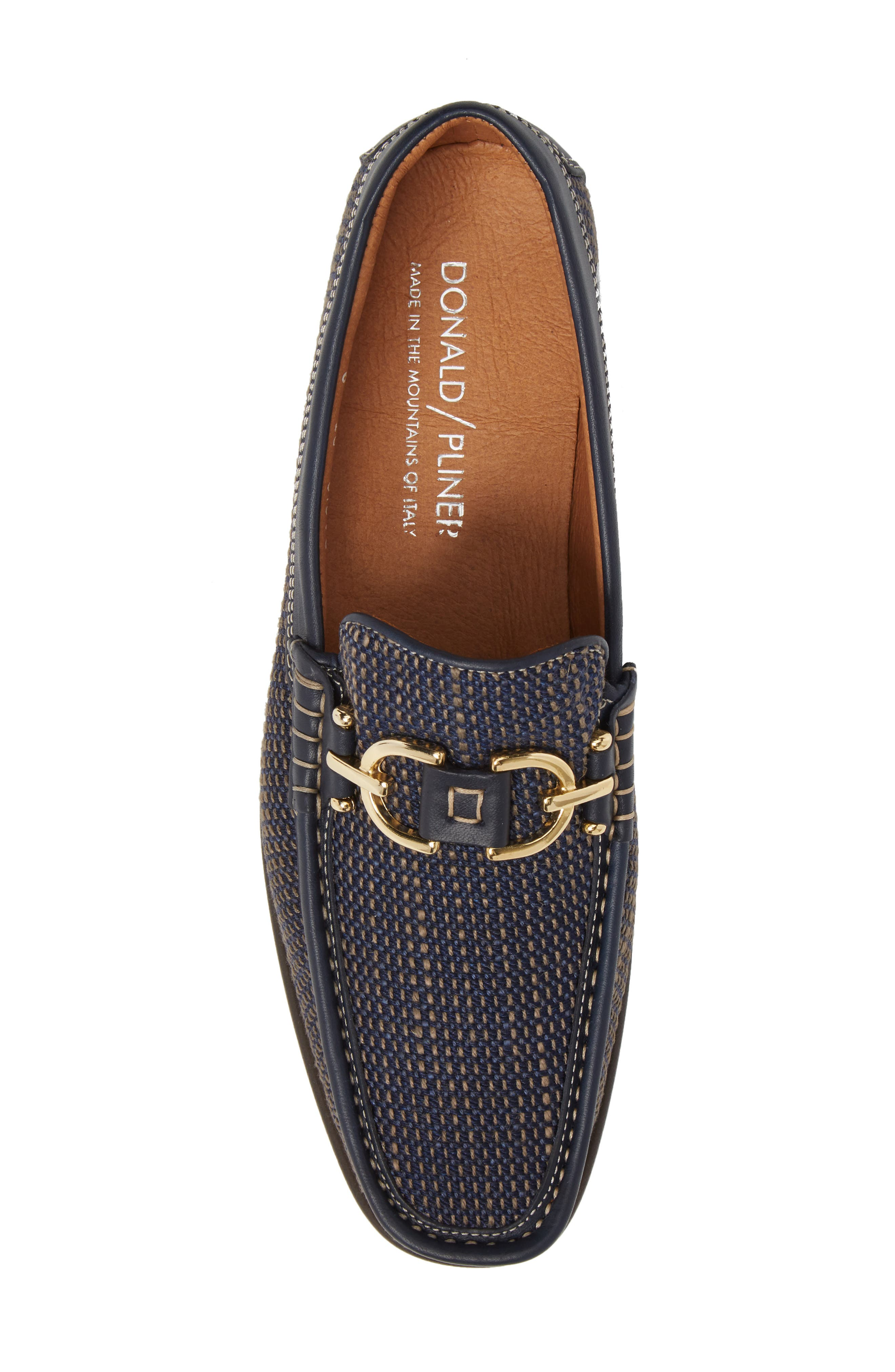 Dacio Woven Bit Loafer,                             Alternate thumbnail 5, color,                             Navy Leather