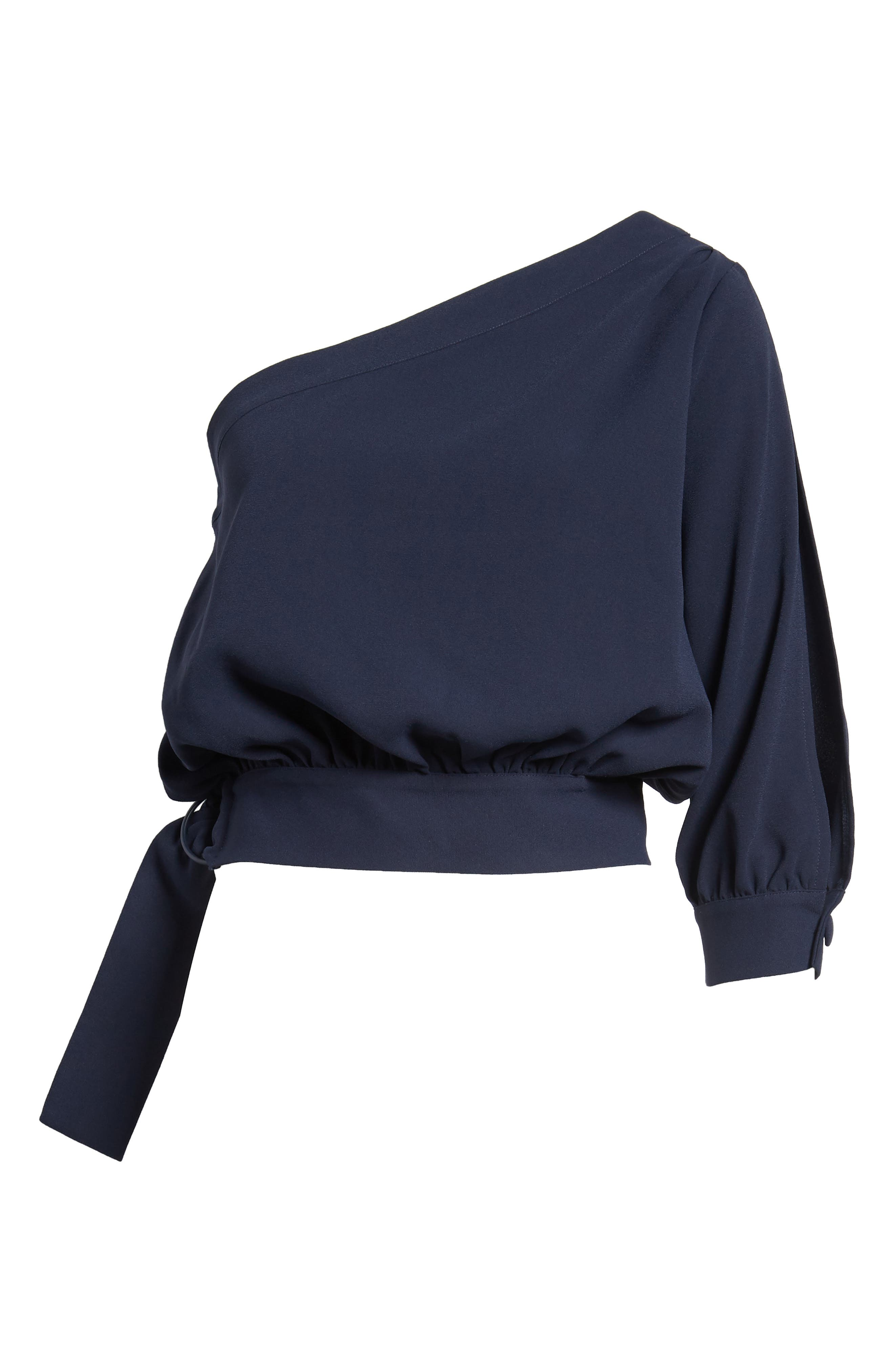 Alternate Image 6  - Habitual Mia One-Shoulder Side Tie Top