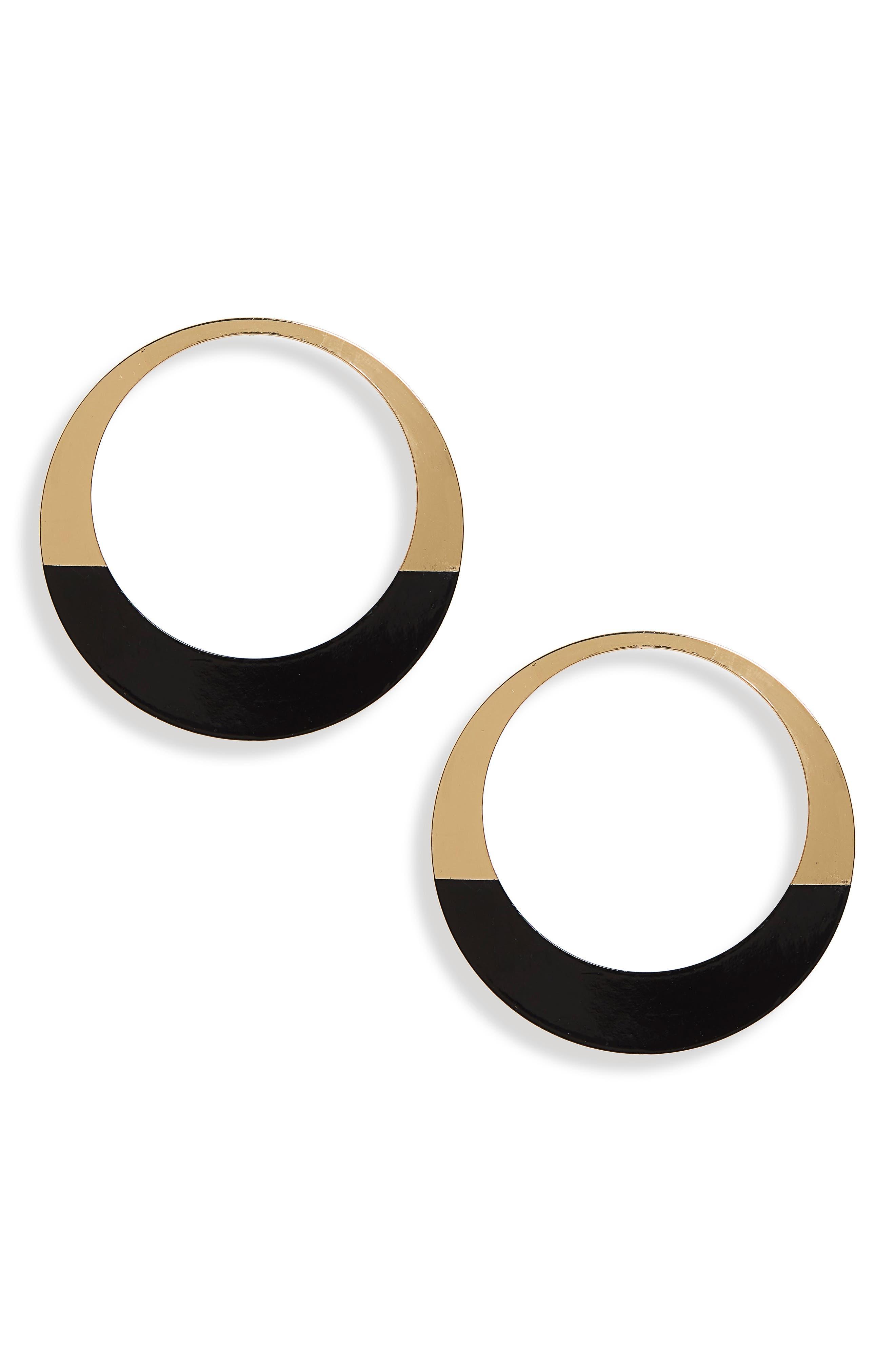 Natasha Enameled Hoop Earrings