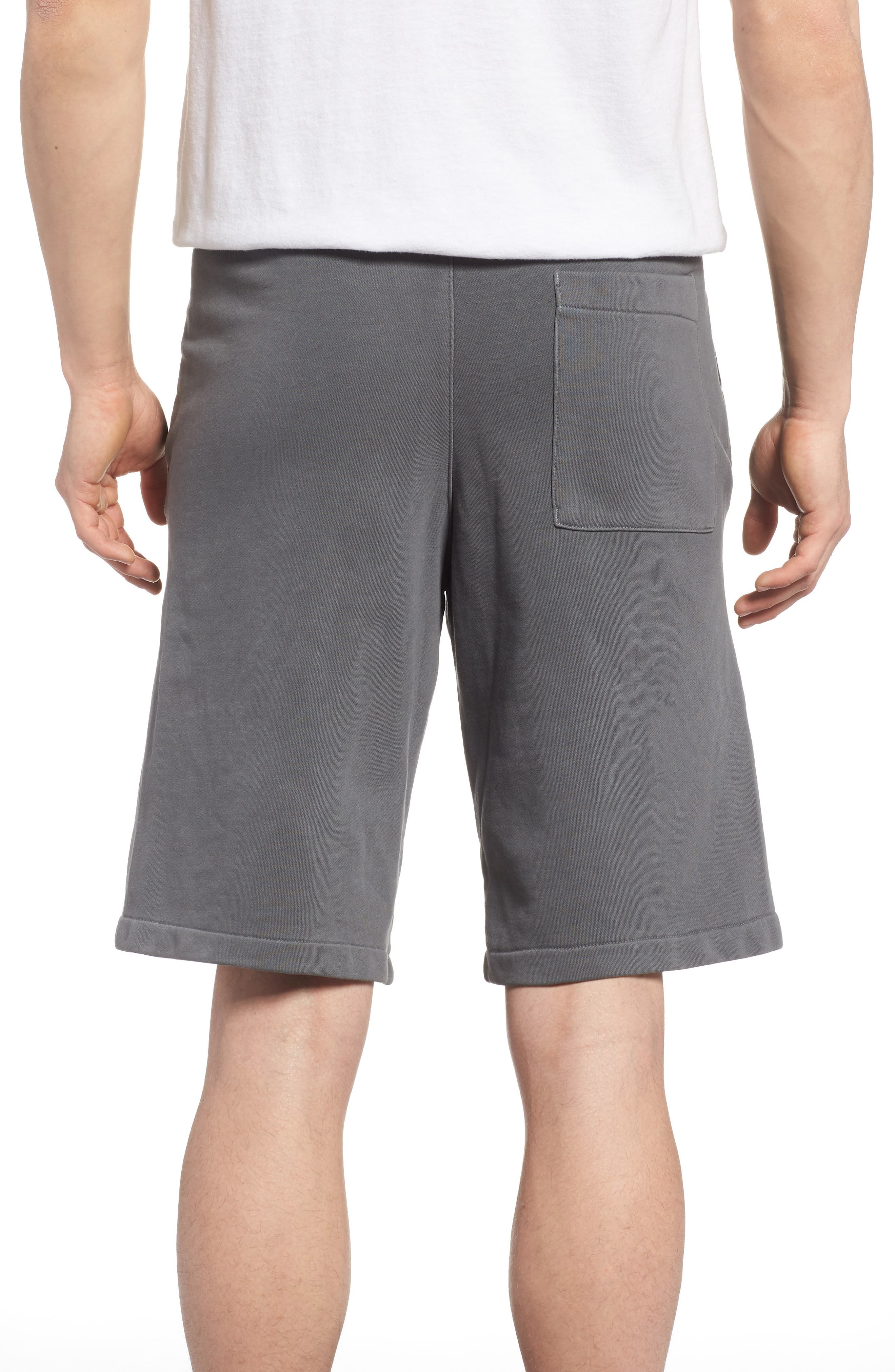 NSW Cotton Blend Shorts,                             Alternate thumbnail 2, color,                             Black/ Anthracite/ Cool Grey