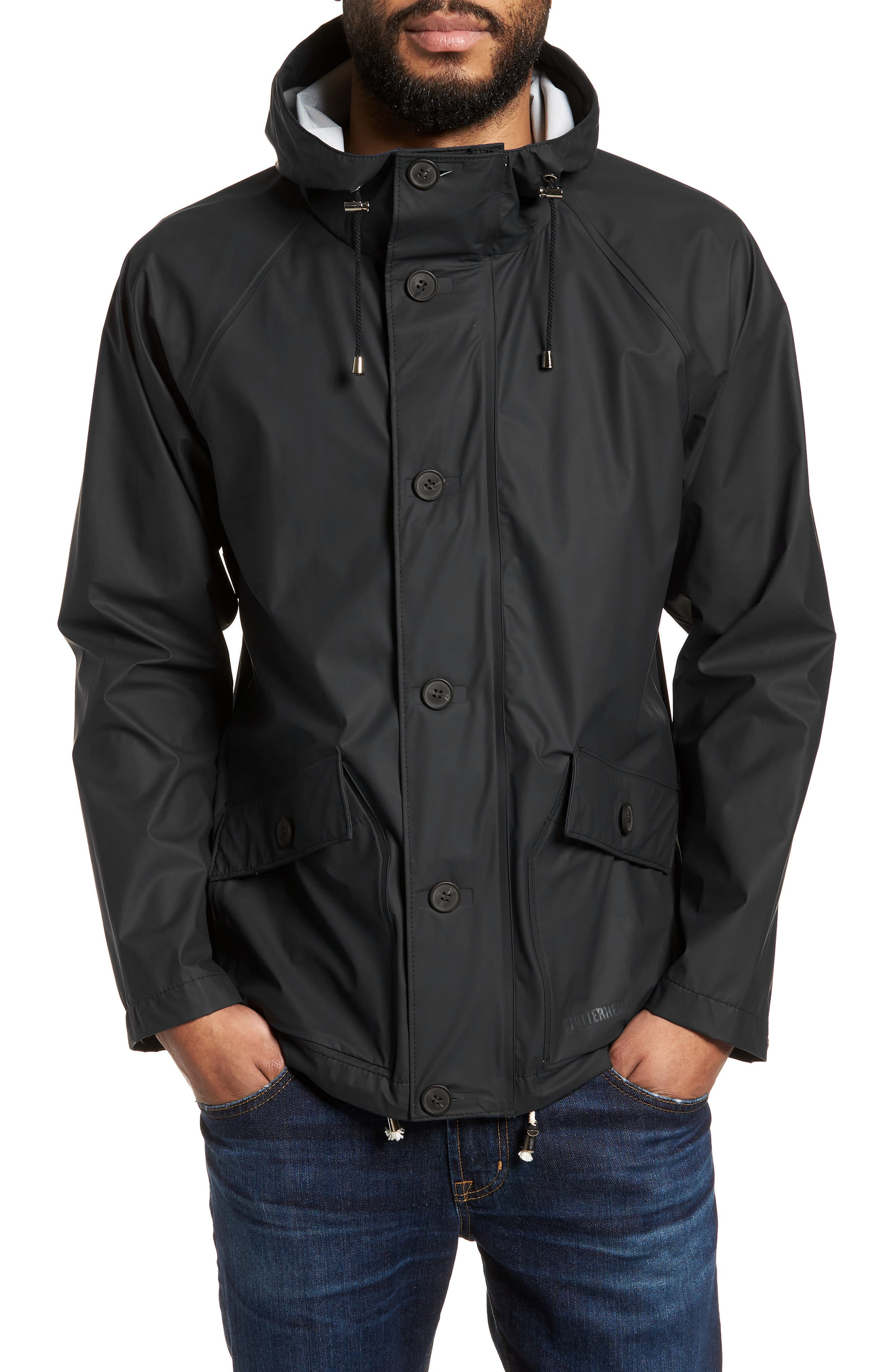 Stenhamra Classic Fit Jacket,                             Main thumbnail 1, color,                             Black