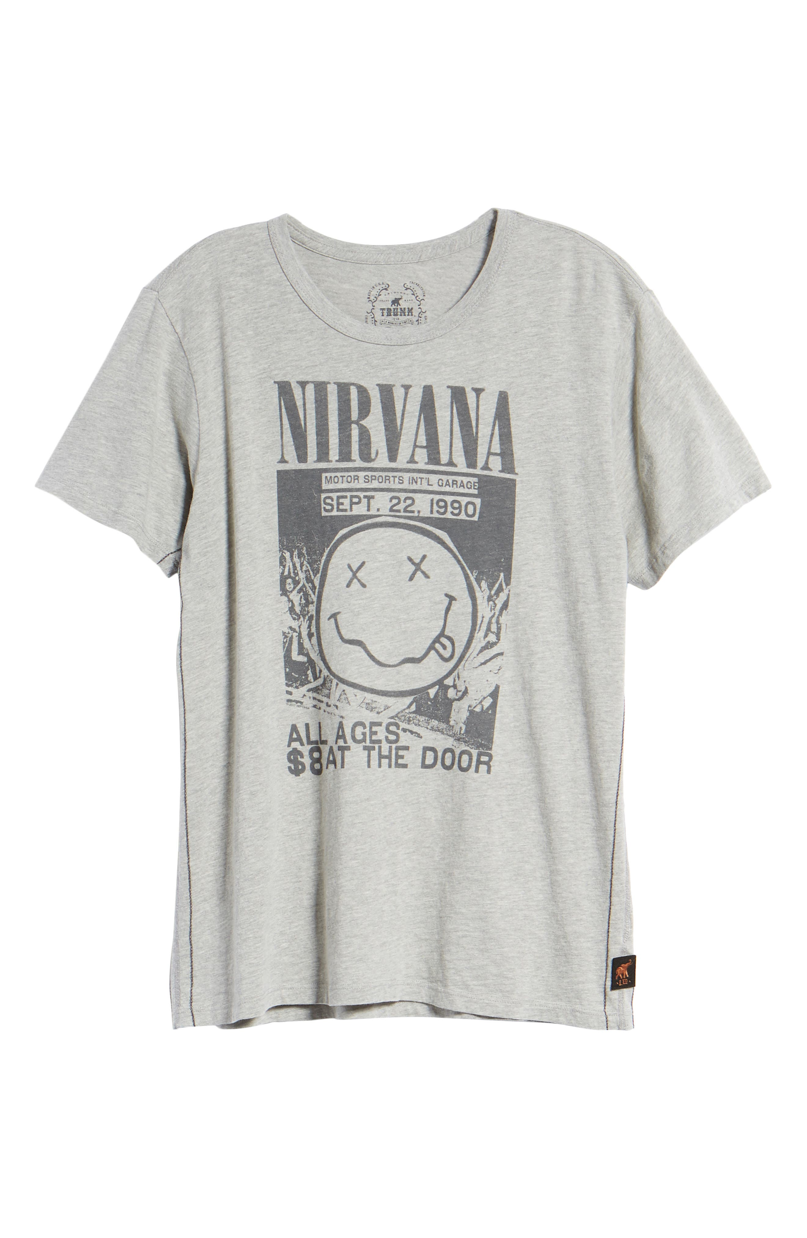 Live Nation Graphic Nirvana Classic T-Shirt,                             Alternate thumbnail 6, color,                             Heather Grey