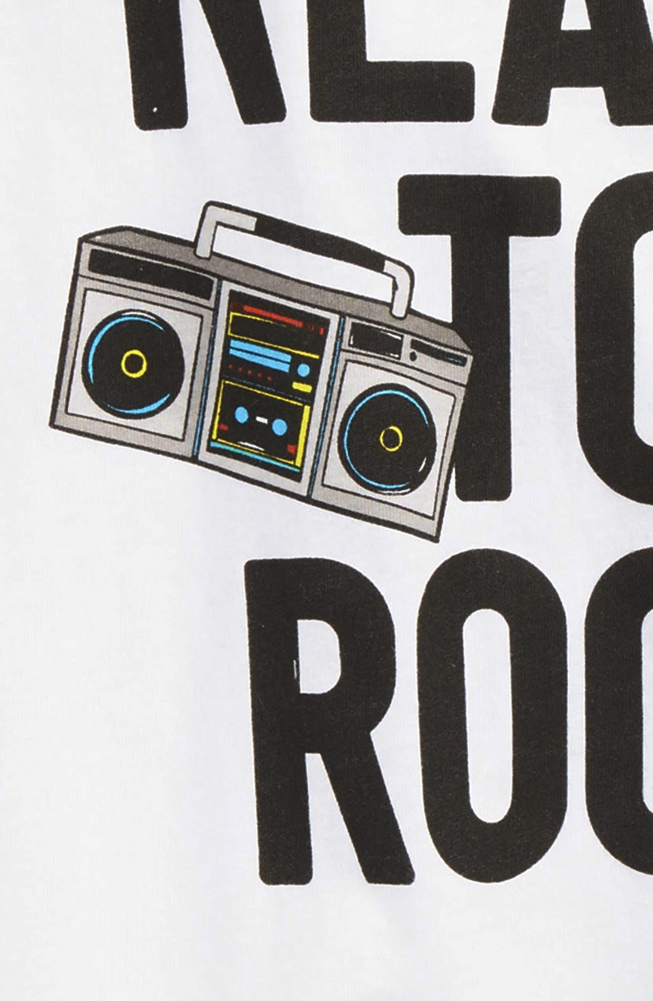Ready to Rock T-Shirt,                             Alternate thumbnail 2, color,                             White