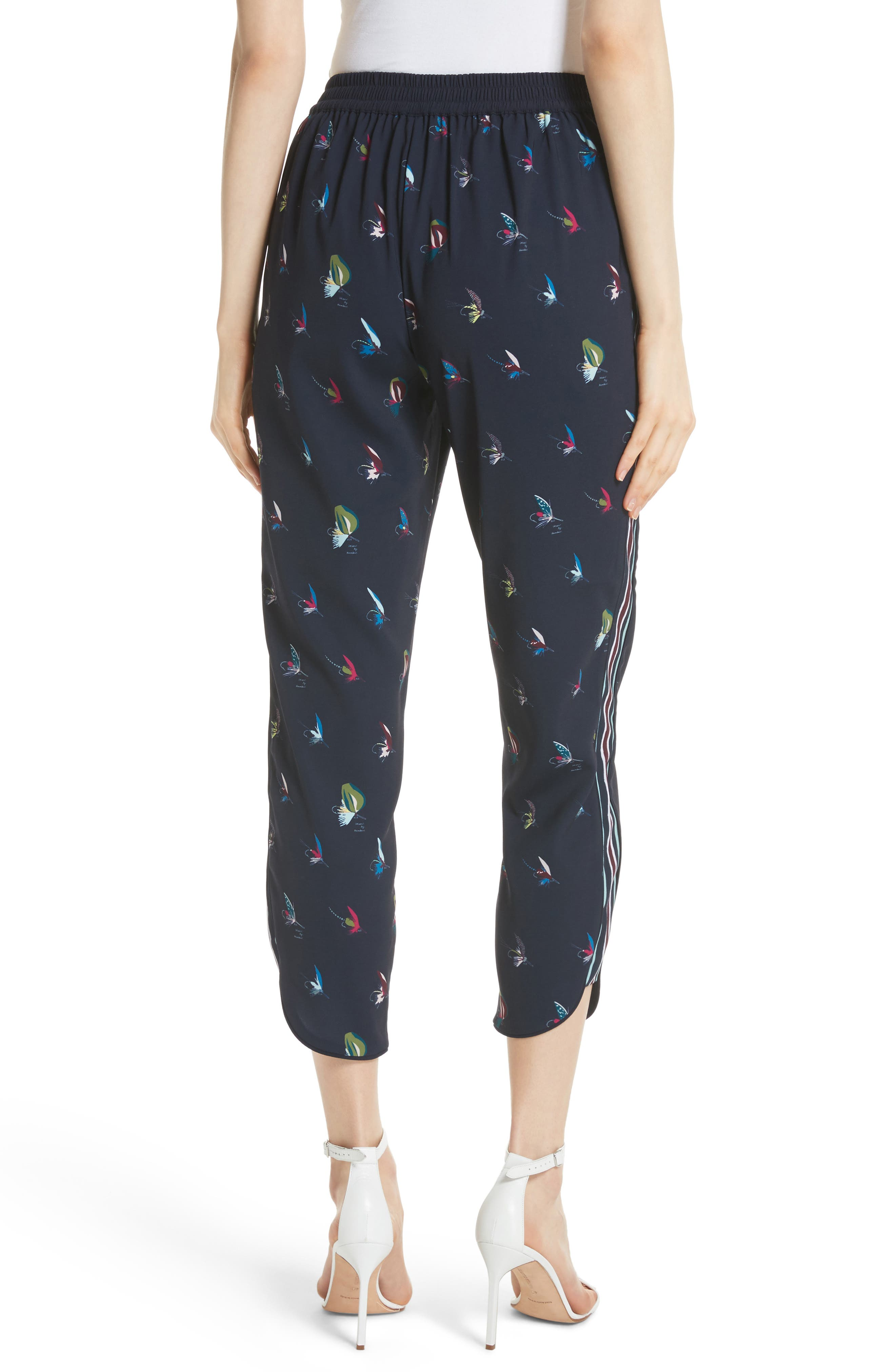 Colour by Numbers Tanyaa Jogger Pants,                             Alternate thumbnail 2, color,                             Navy