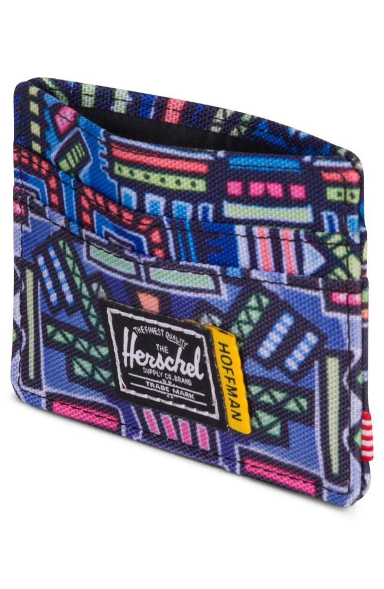 Hoffman Charlie Card Case,                             Alternate thumbnail 4, color,                             Abstract Geo