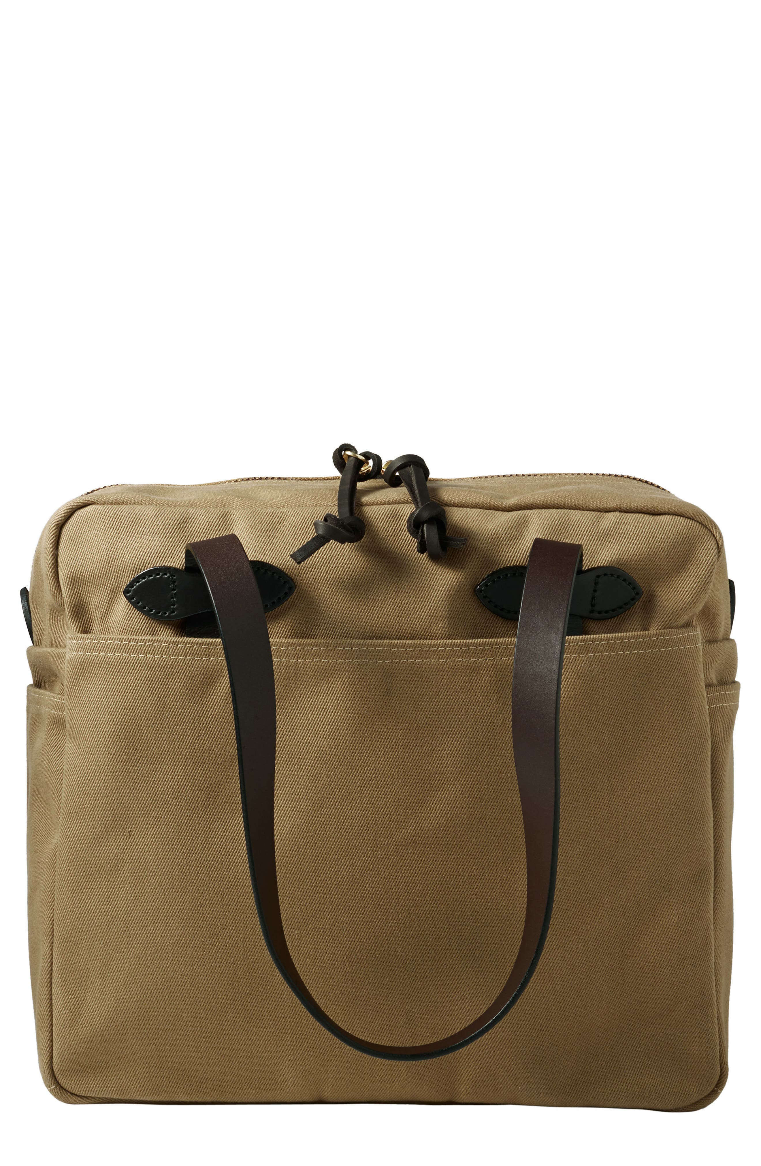 FILSON RUGGED TWILL ZIP TOTE BAG - BROWN
