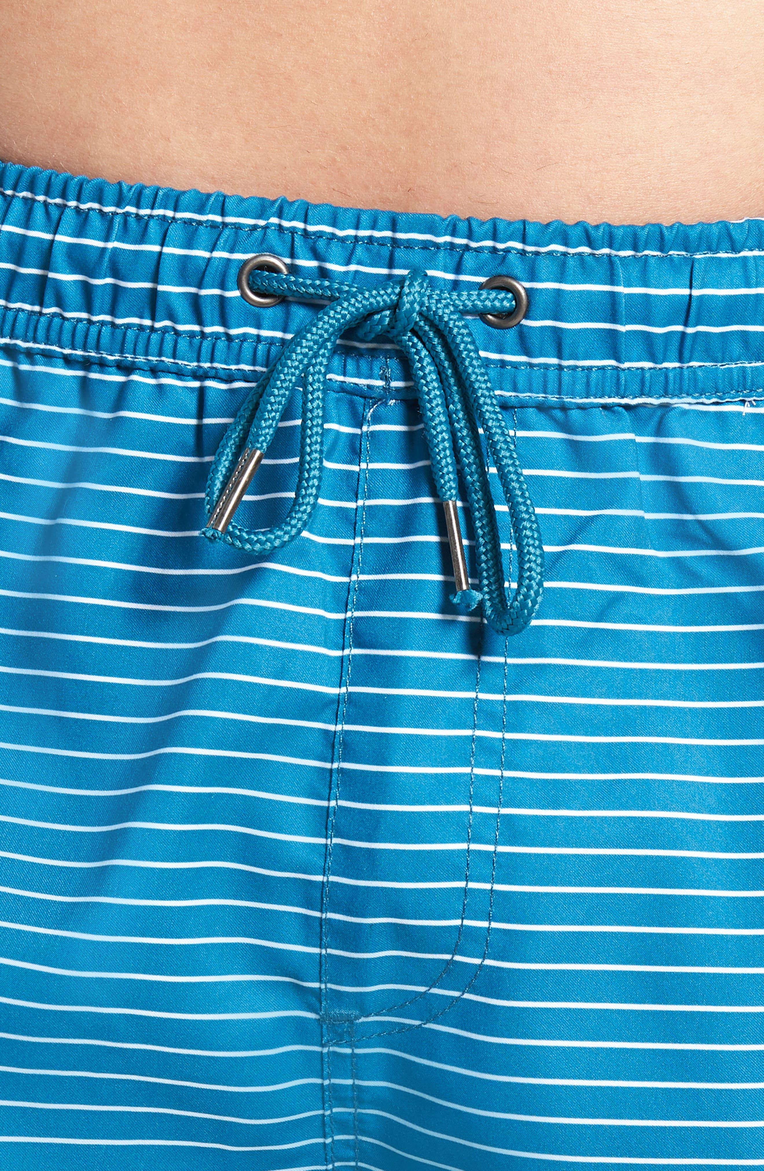 Boost Swim Trunks,                             Alternate thumbnail 4, color,                             Teal