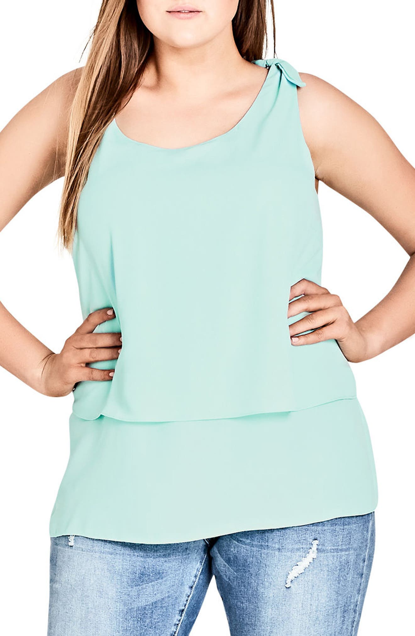 City Chic Cami Bow Knot Tank (Plus Size)