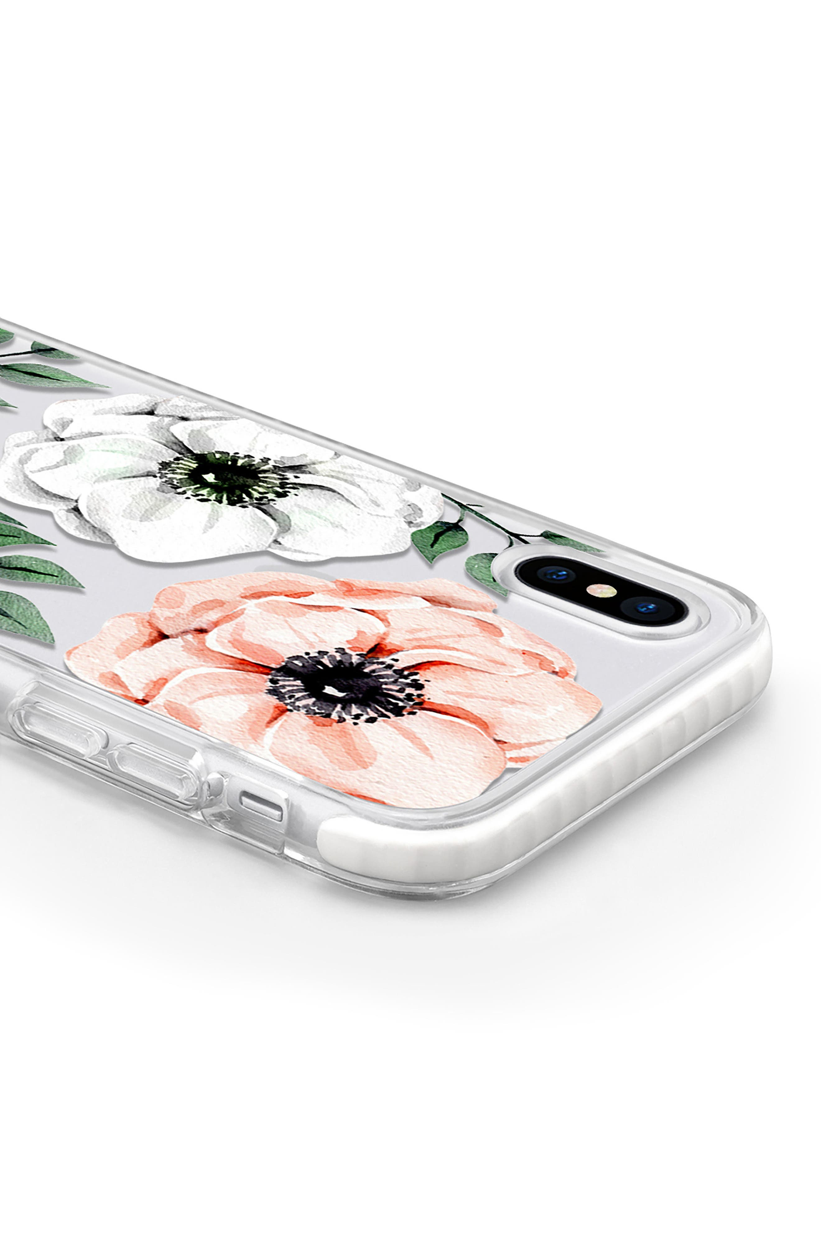 Watercolor Impact iPhone X Case,                             Alternate thumbnail 4, color,                             Pink And White