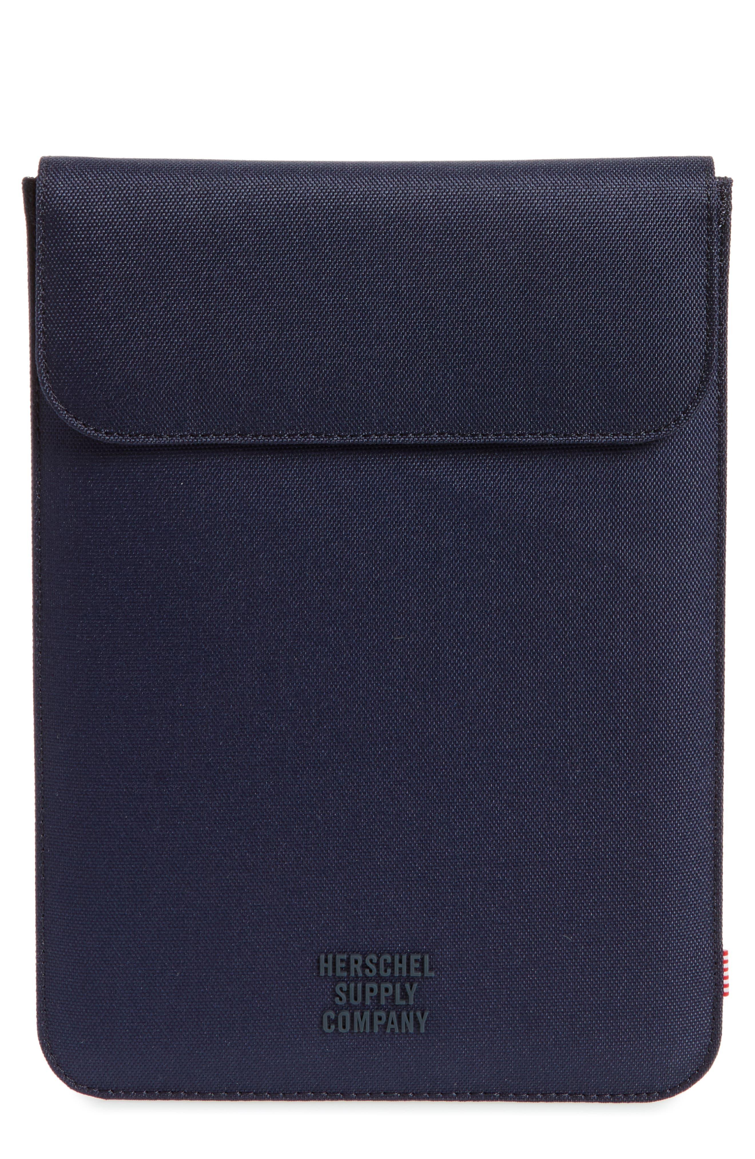Spokane iPad Air Canvas Sleeve,                             Main thumbnail 1, color,                             Peacoat/ Light Grey