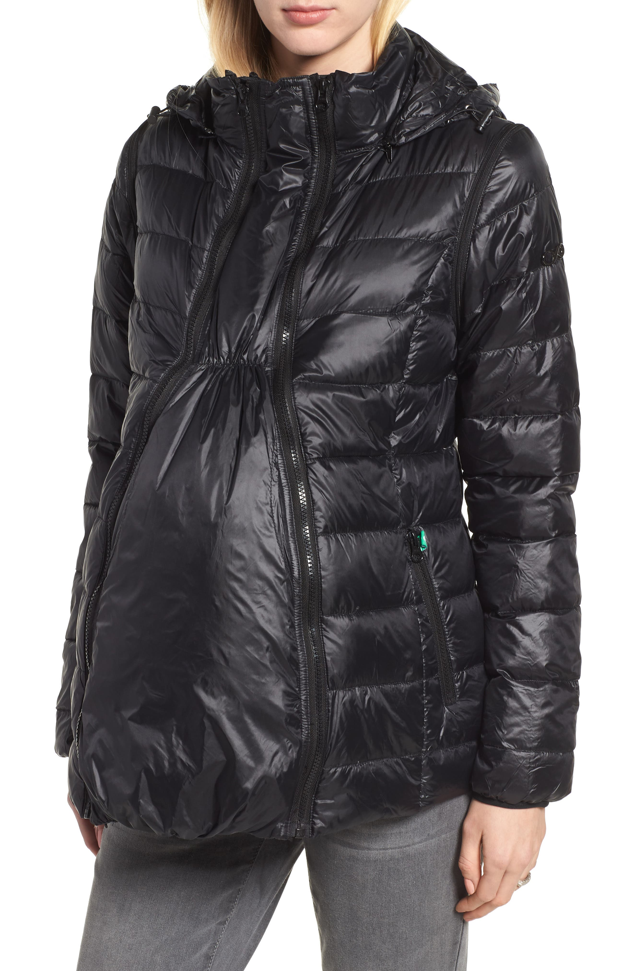 Modern Eternity Lightweight Puffer Convertible Maternity Jacket