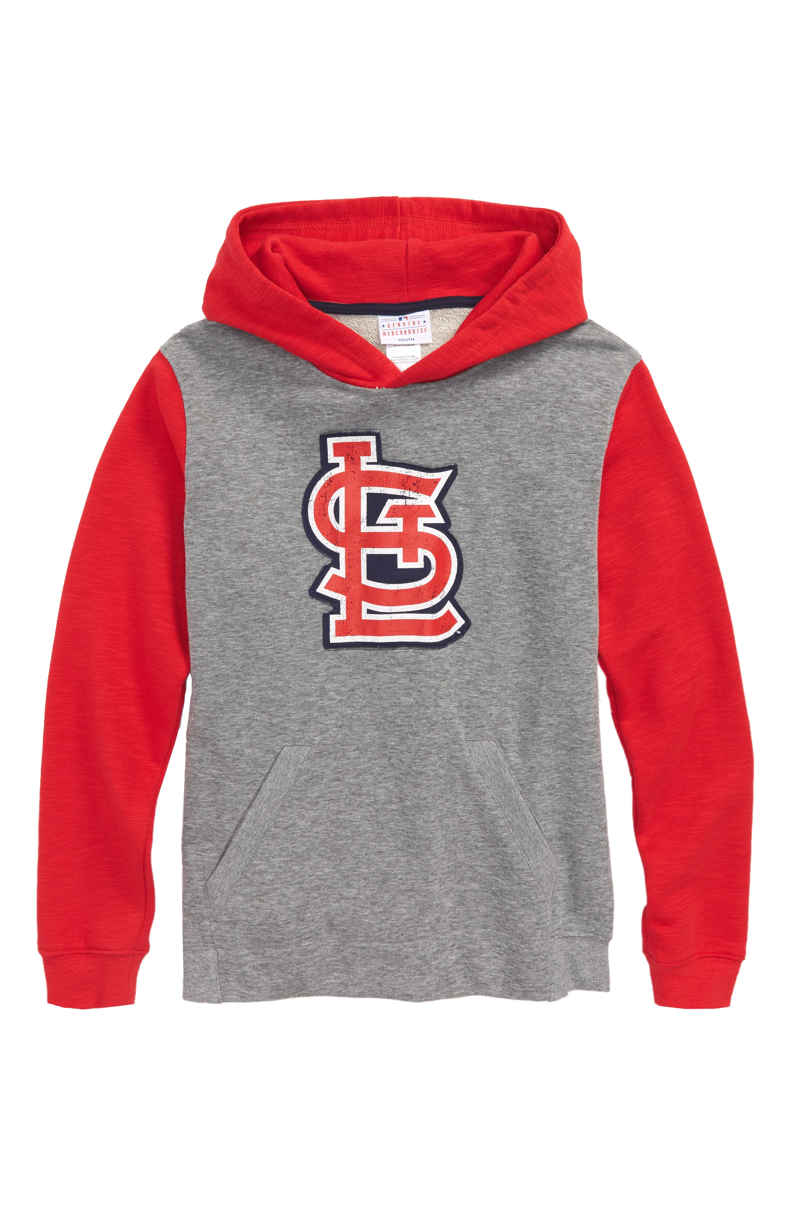 New Beginnings - St. Louis Cardinals Pullover Hoodie,                             Main thumbnail 1, color,                             Gray