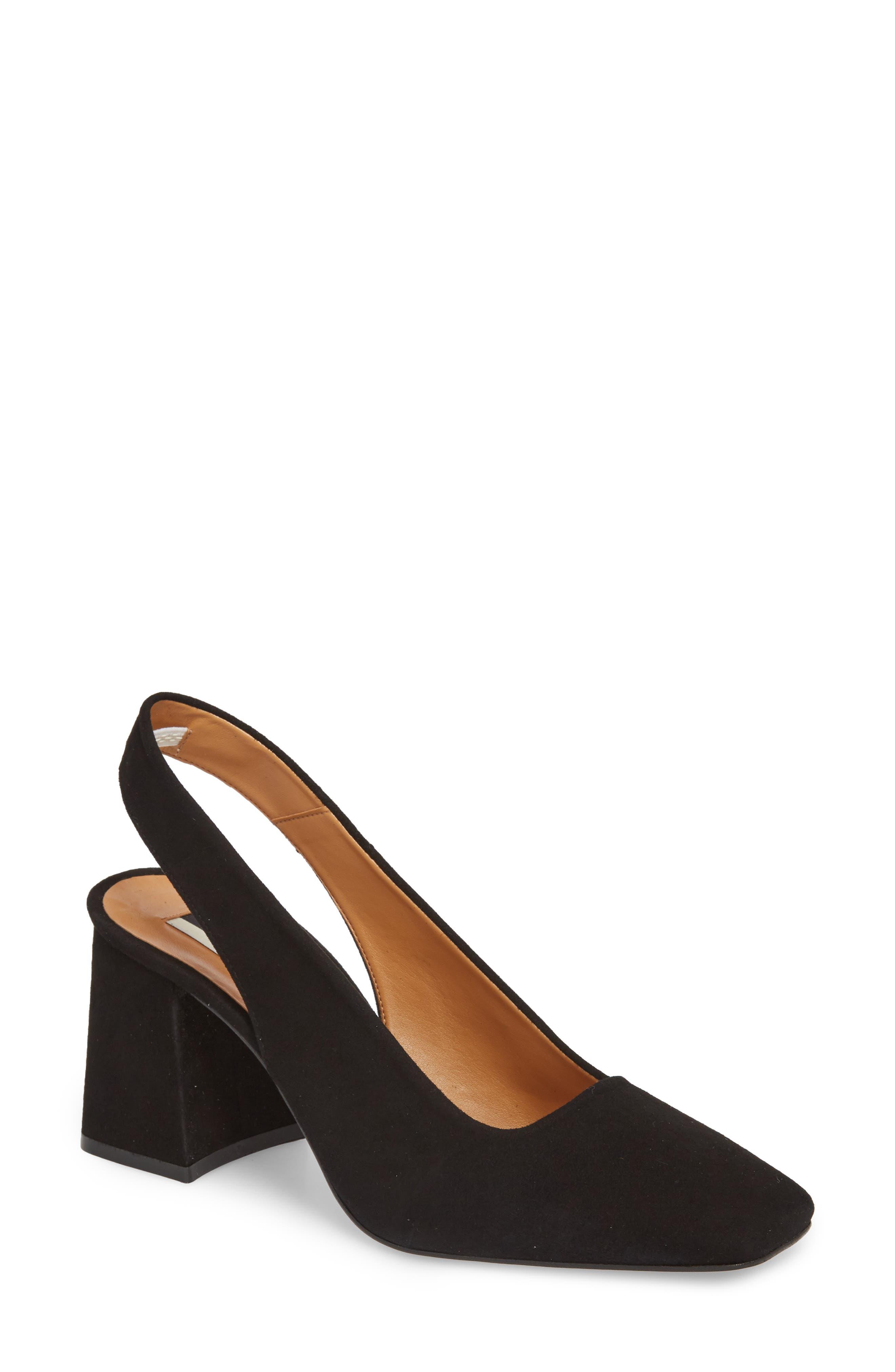 Topshop Gainor Block Heel Slingback Pump (Women)