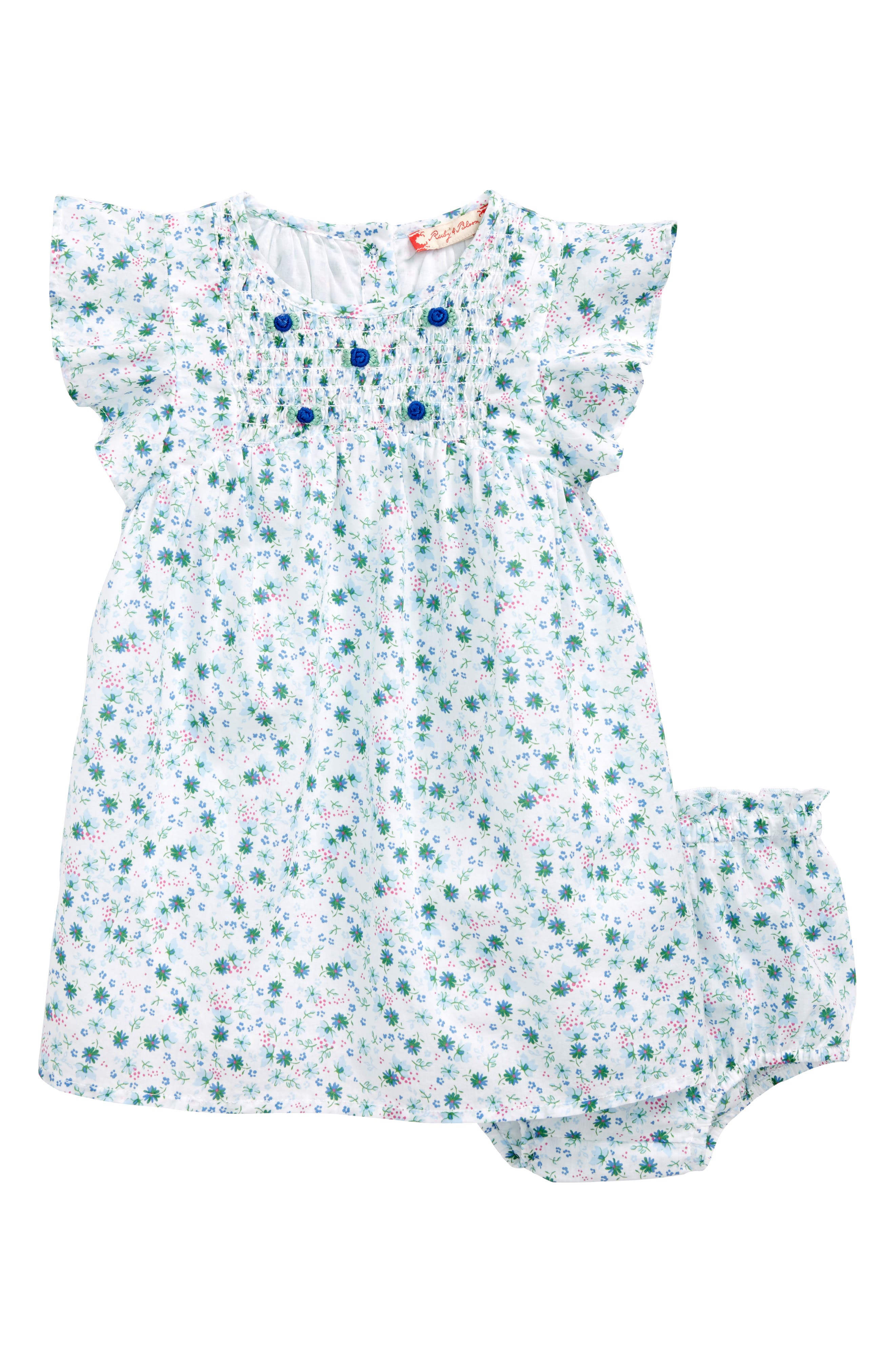 Ditsy Summer Dress,                             Main thumbnail 1, color,                             White Devon Floral