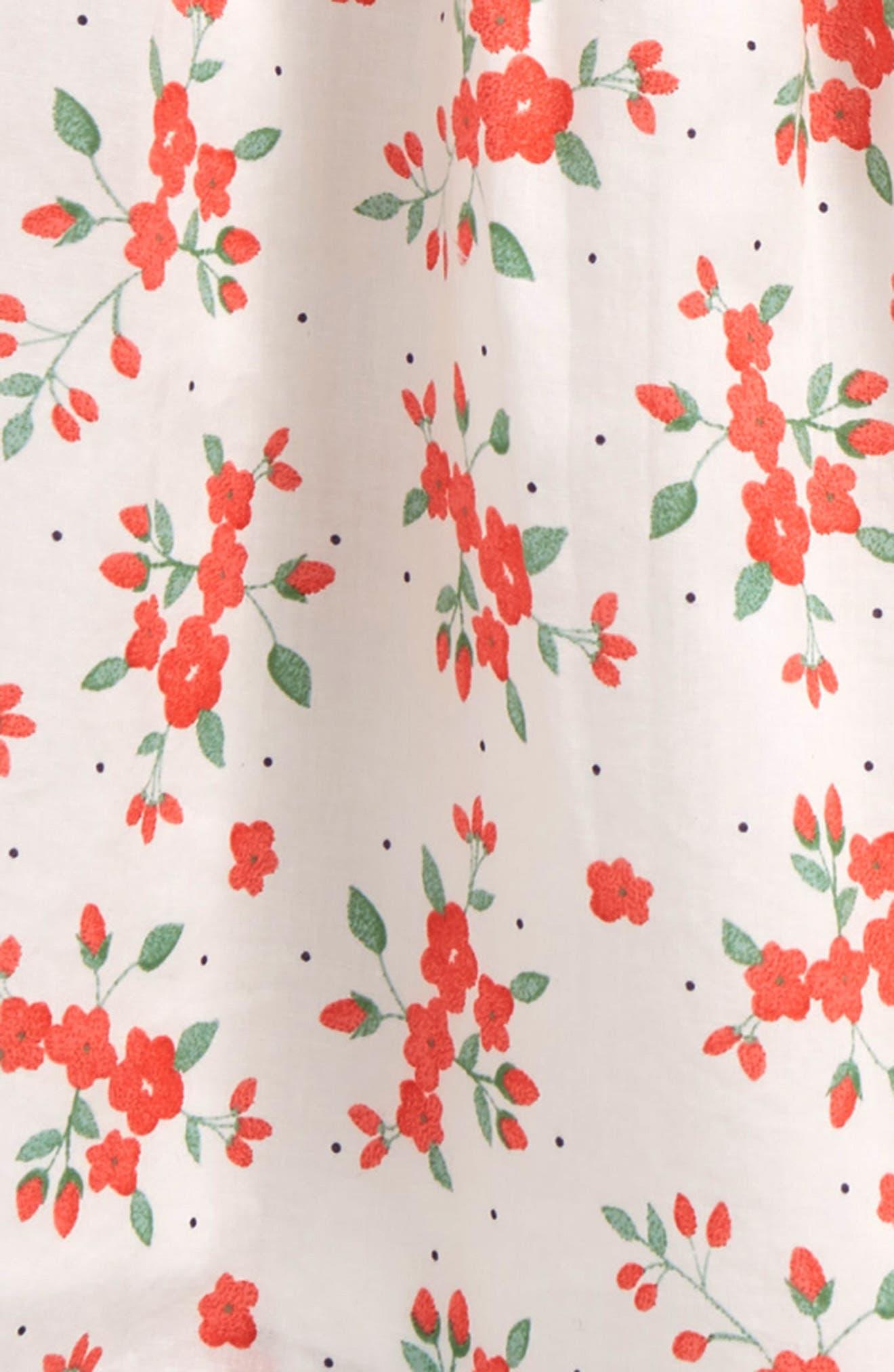 Floral Sundress,                             Alternate thumbnail 2, color,                             White Bouquet Toss