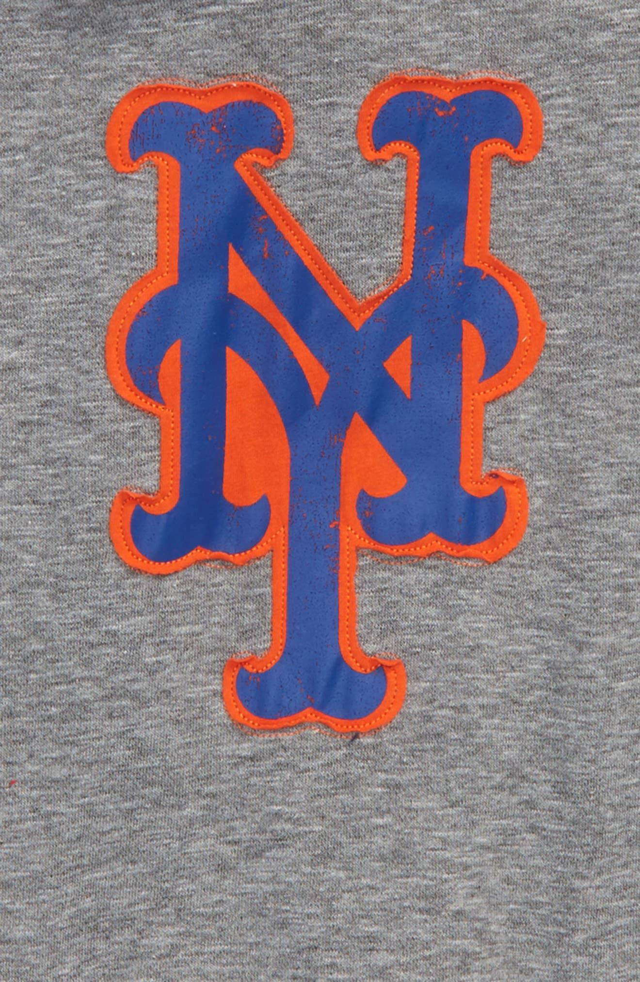New Beginnings - New York Mets Pullover Hoodie,                             Alternate thumbnail 2, color,                             Gray