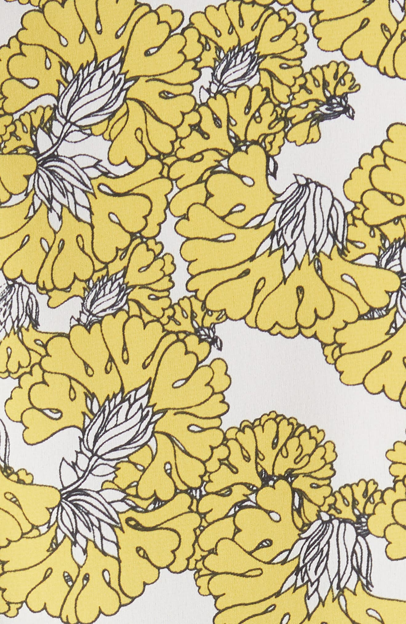 Floral Print Ruffle Back Top,                             Alternate thumbnail 5, color,                             Yellow Floral