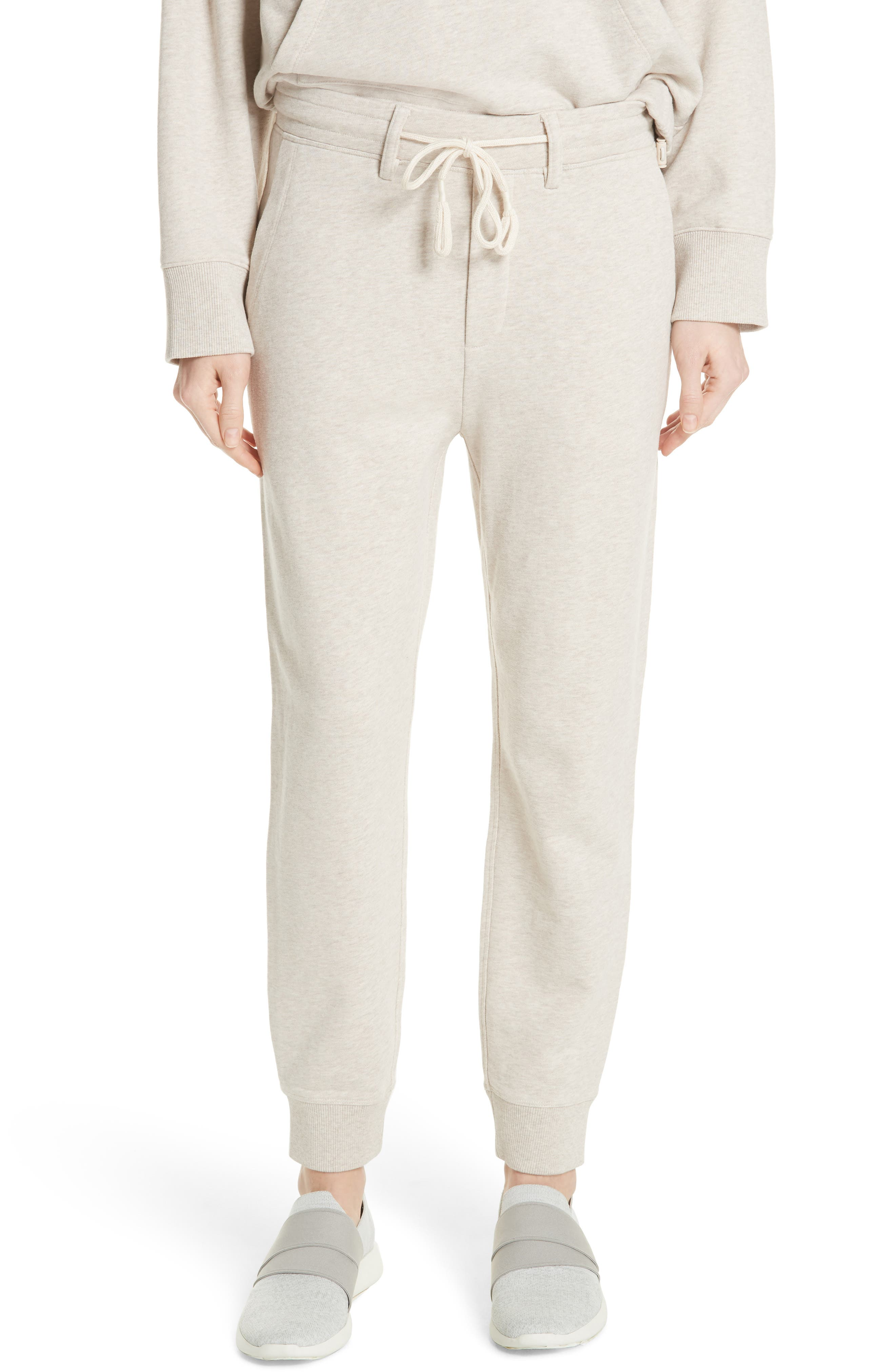 Cotton Drawstring Sweatpants,                         Main,                         color, H Burlap