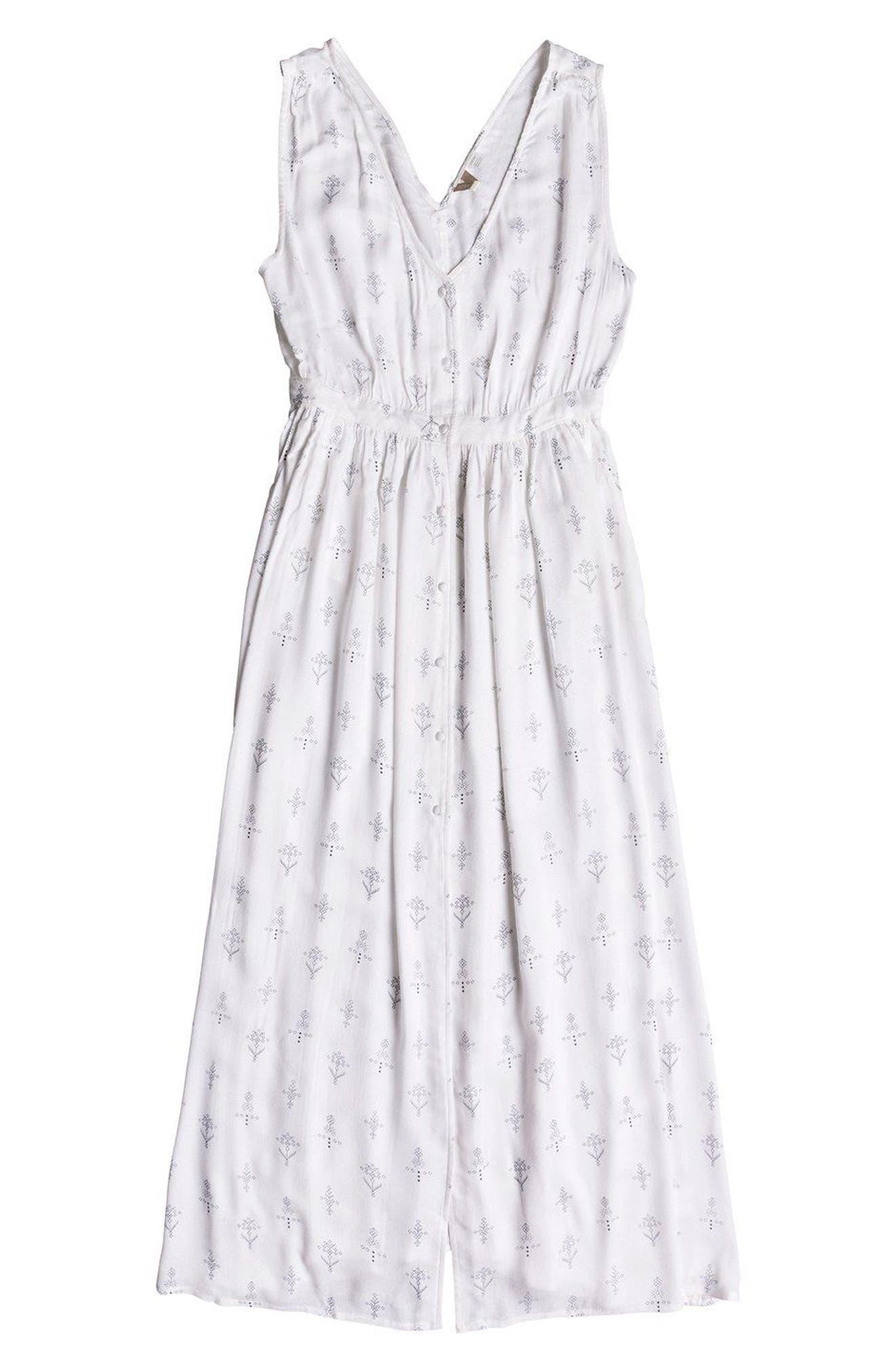 Apache Nature Print Maxi Dress,                             Alternate thumbnail 6, color,                             Marshmallow Simple Azaz