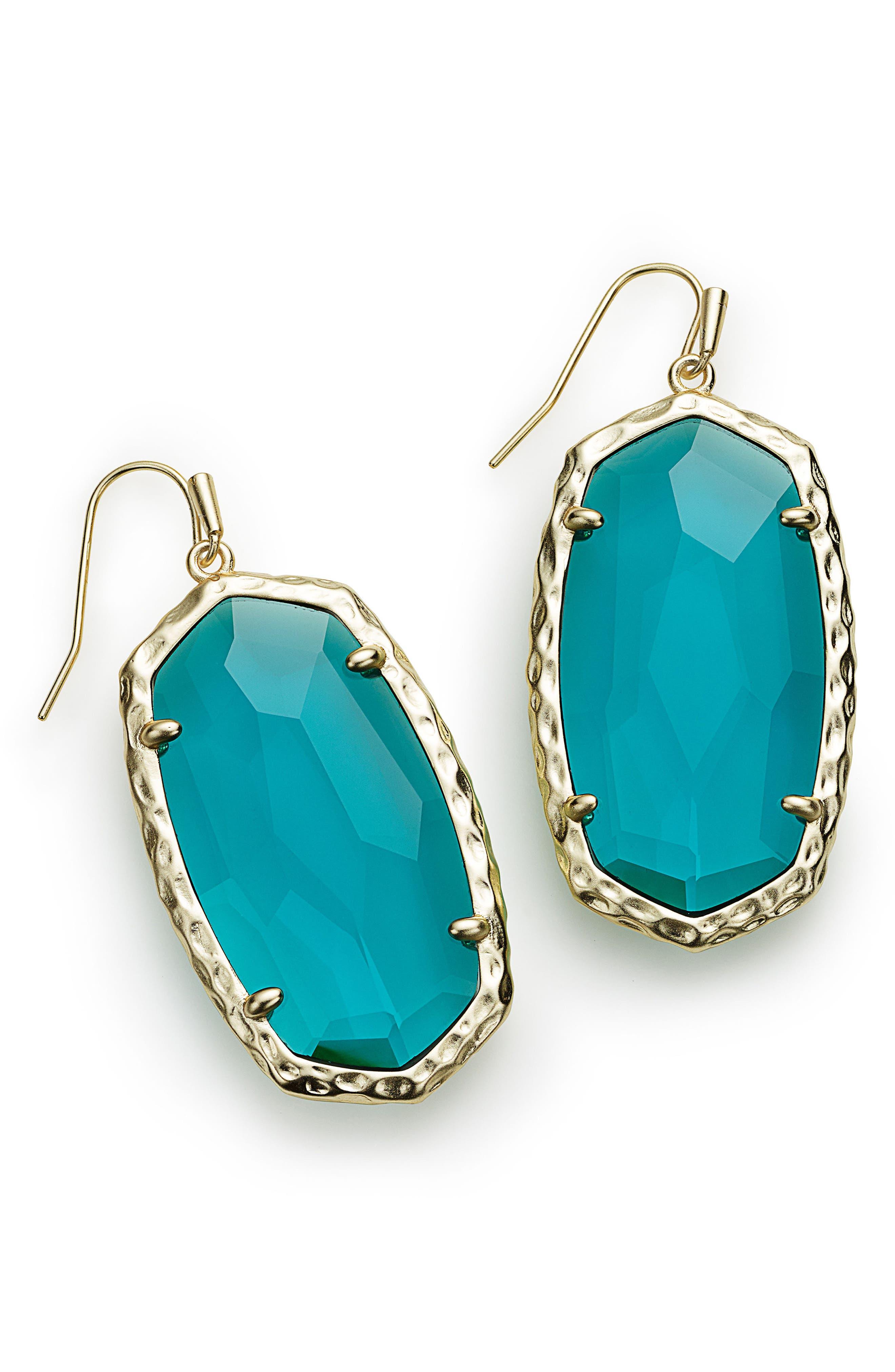 Ella Drop Earrings,                         Main,                         color, London Blue/ Gold