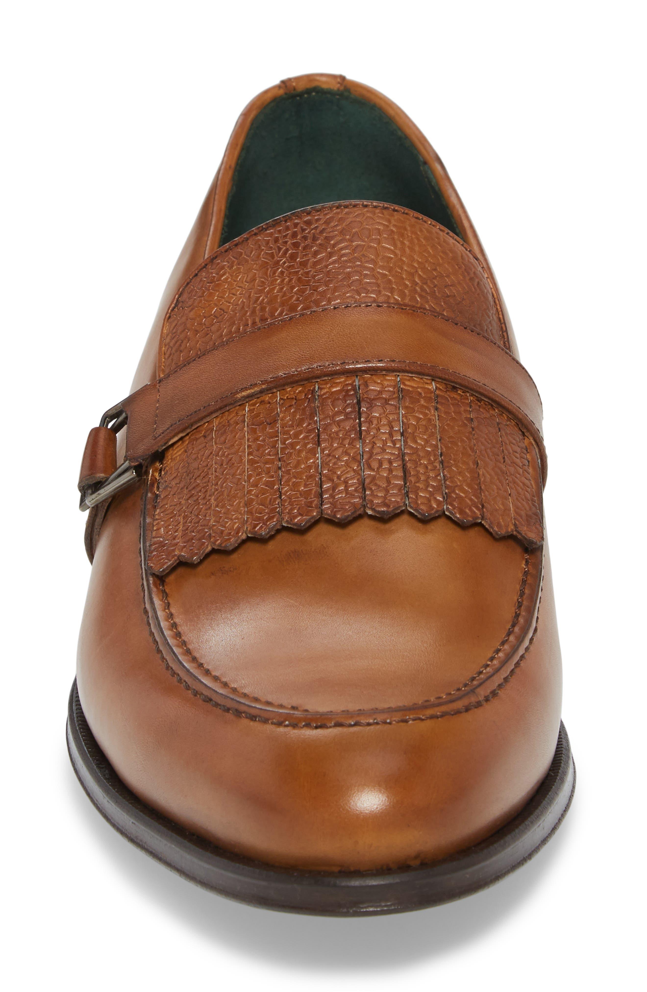 Octavio Kiltie Loafer,                             Alternate thumbnail 4, color,                             Tan Leather