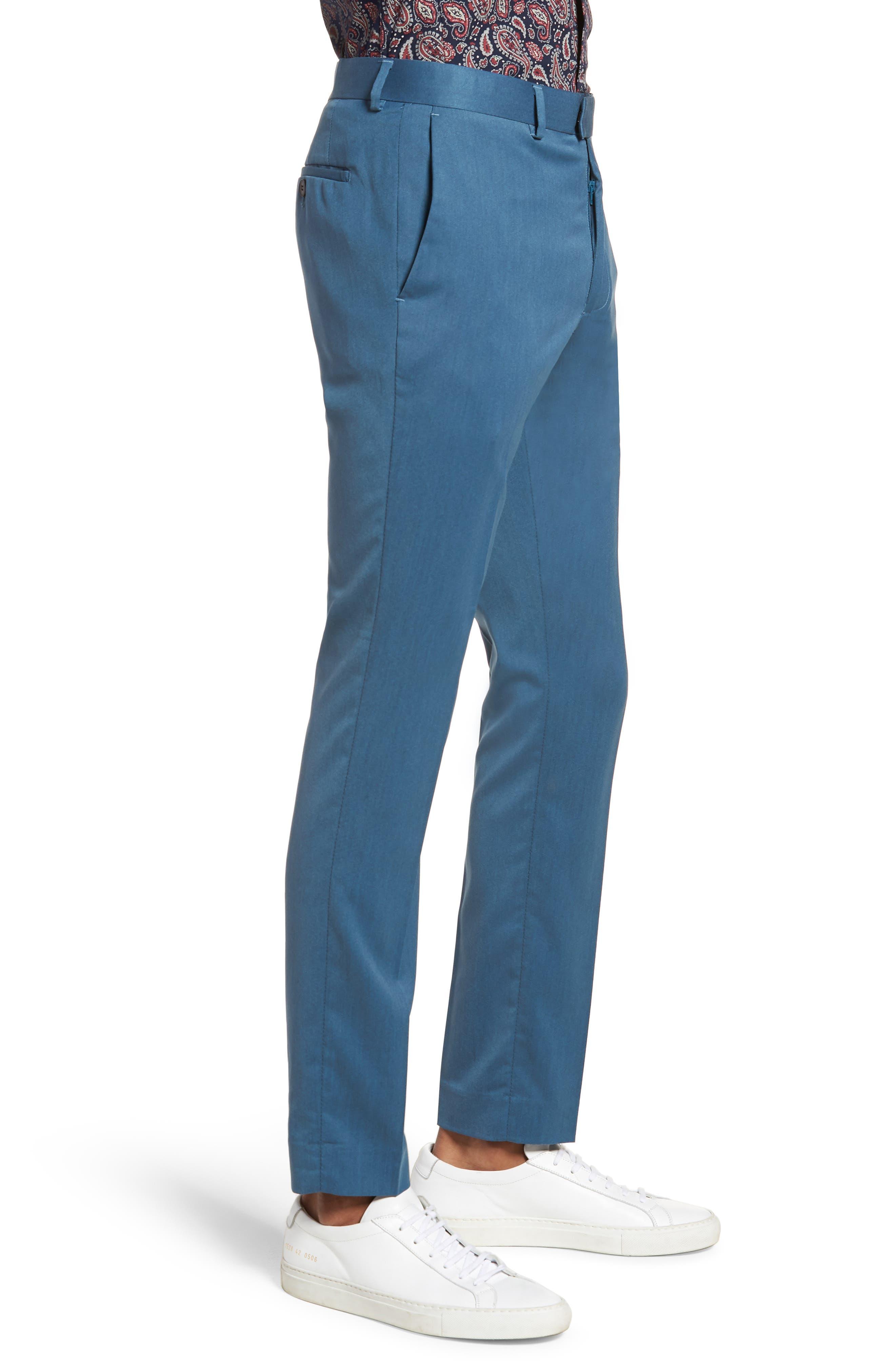 Skinny Fit Suit Trousers,                             Alternate thumbnail 3, color,                             Light Blue