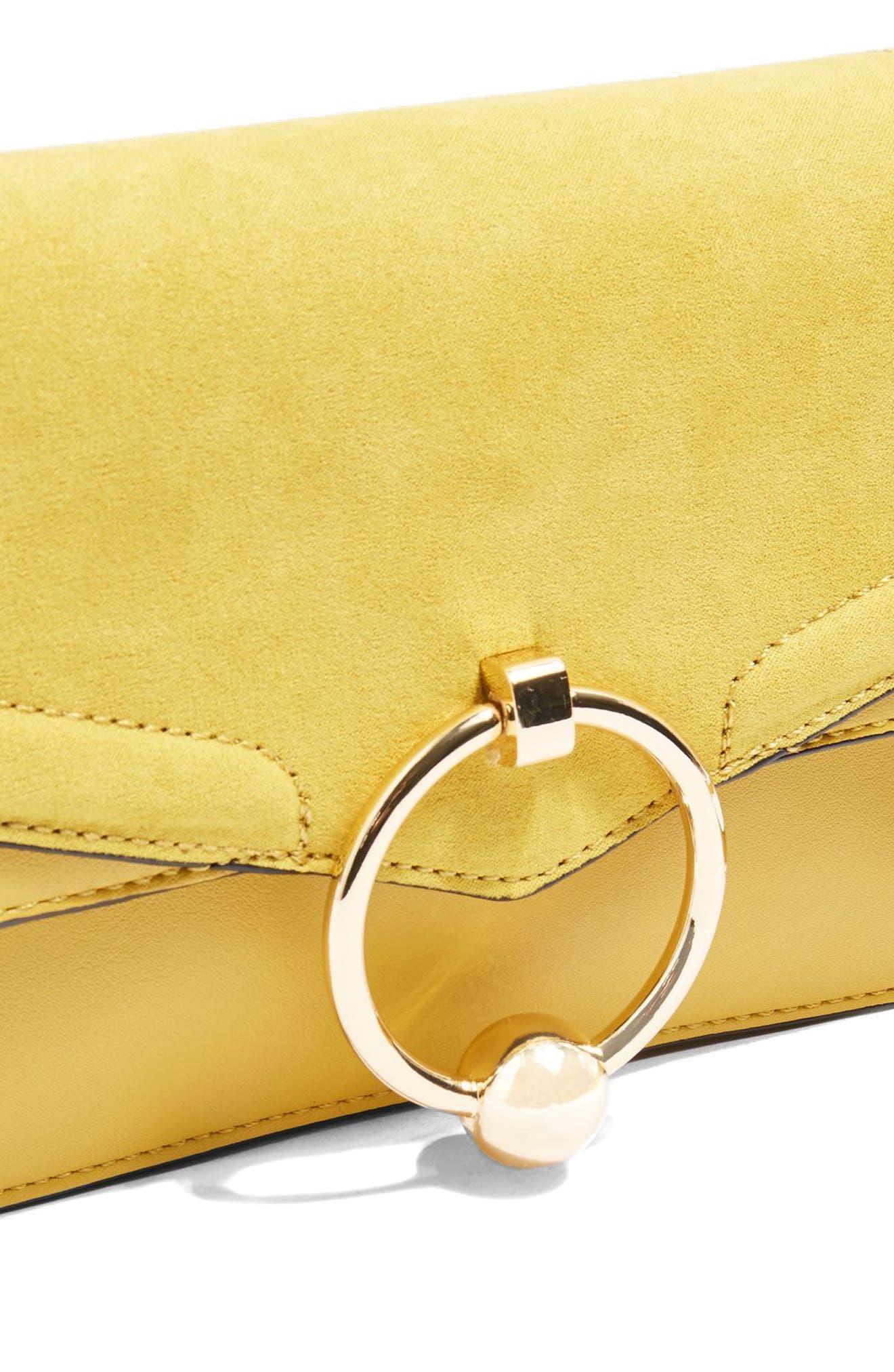 Seline Faux Leather Crossbody Bag,                             Alternate thumbnail 9, color,                             Yellow Multi