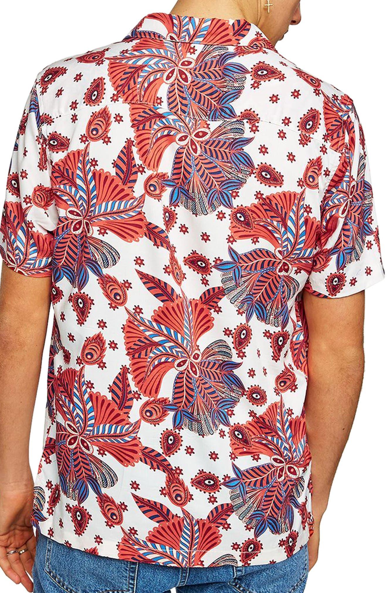 Multi Print Shirt,                             Alternate thumbnail 3, color,                             White Multi