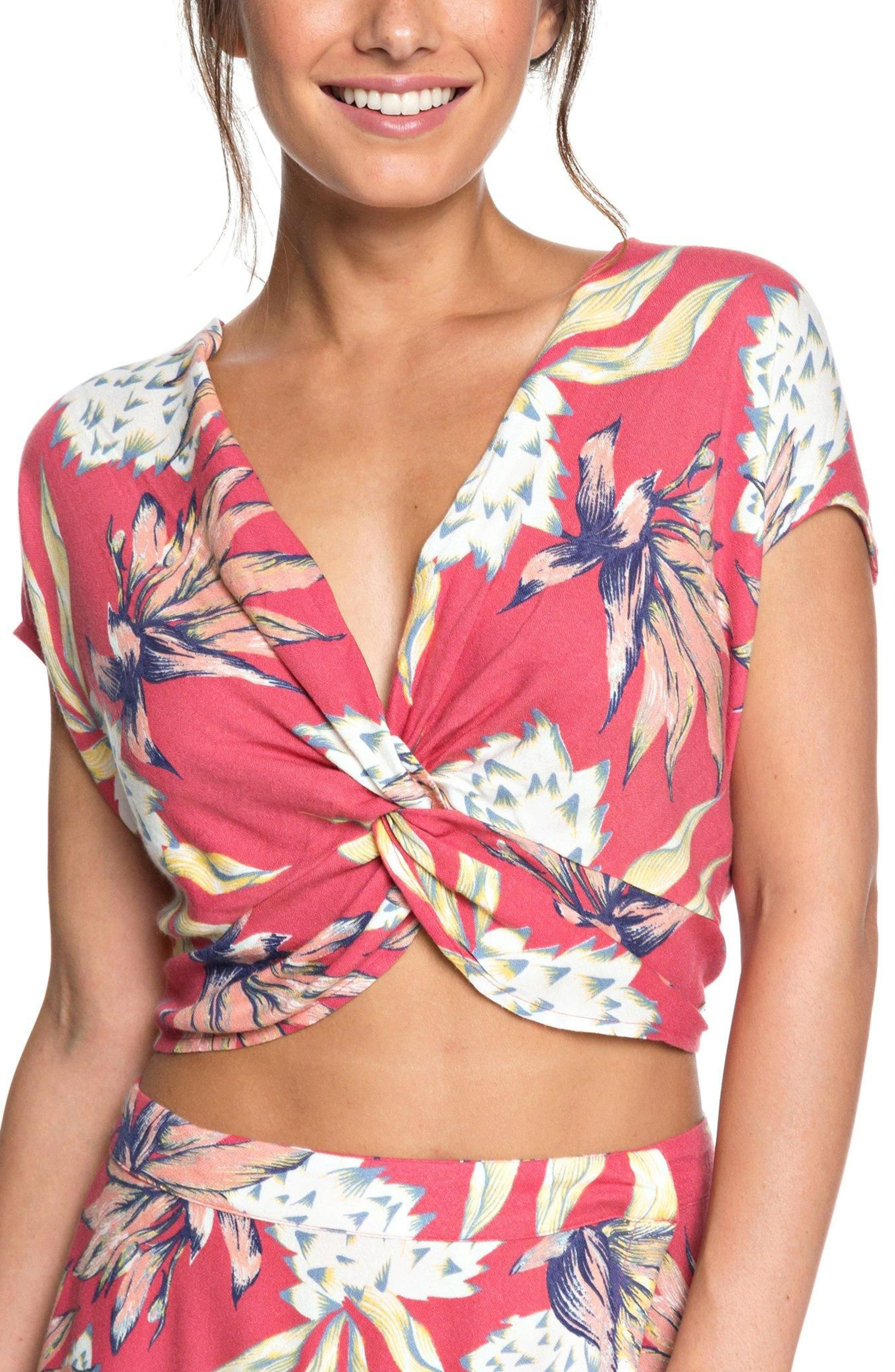 Roxy Tucson Colors Twist Front Crop Top