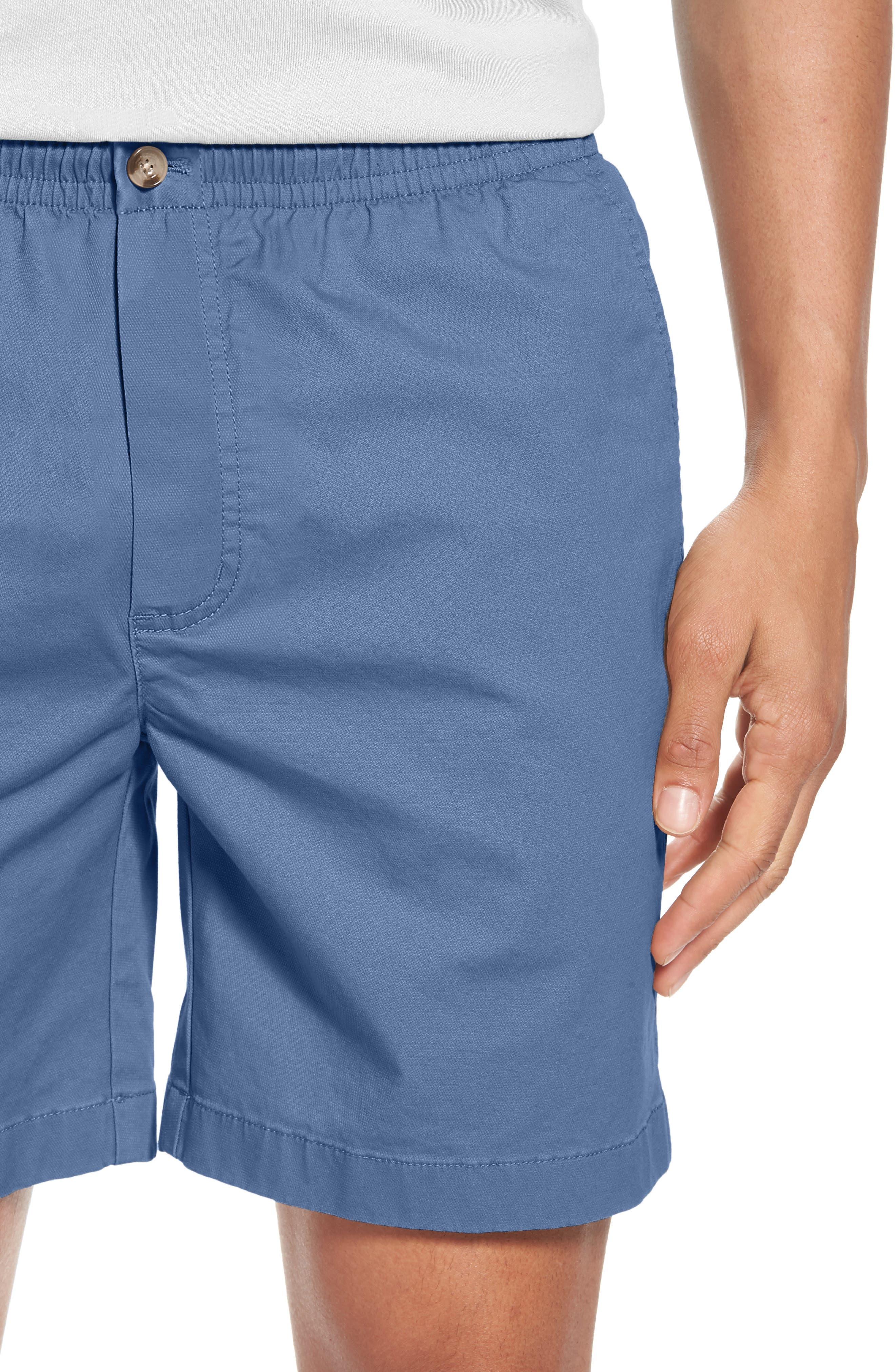 Jetty Stretch Cotton Shorts,                             Alternate thumbnail 4, color,                             Moonshine