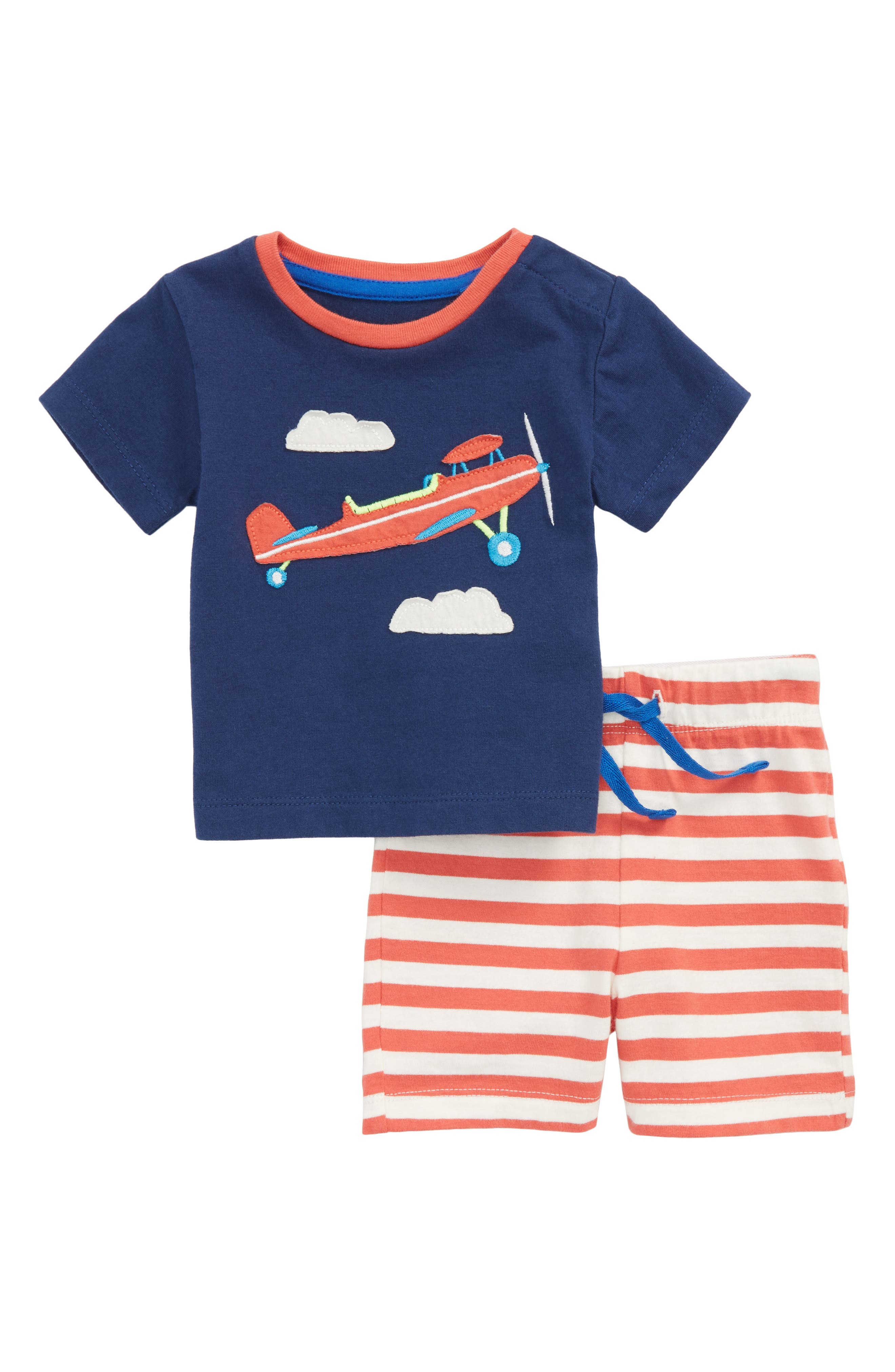 Mini Boden Fun T-Shirt & Shorts Set (Baby Boys & Toddler Boys)