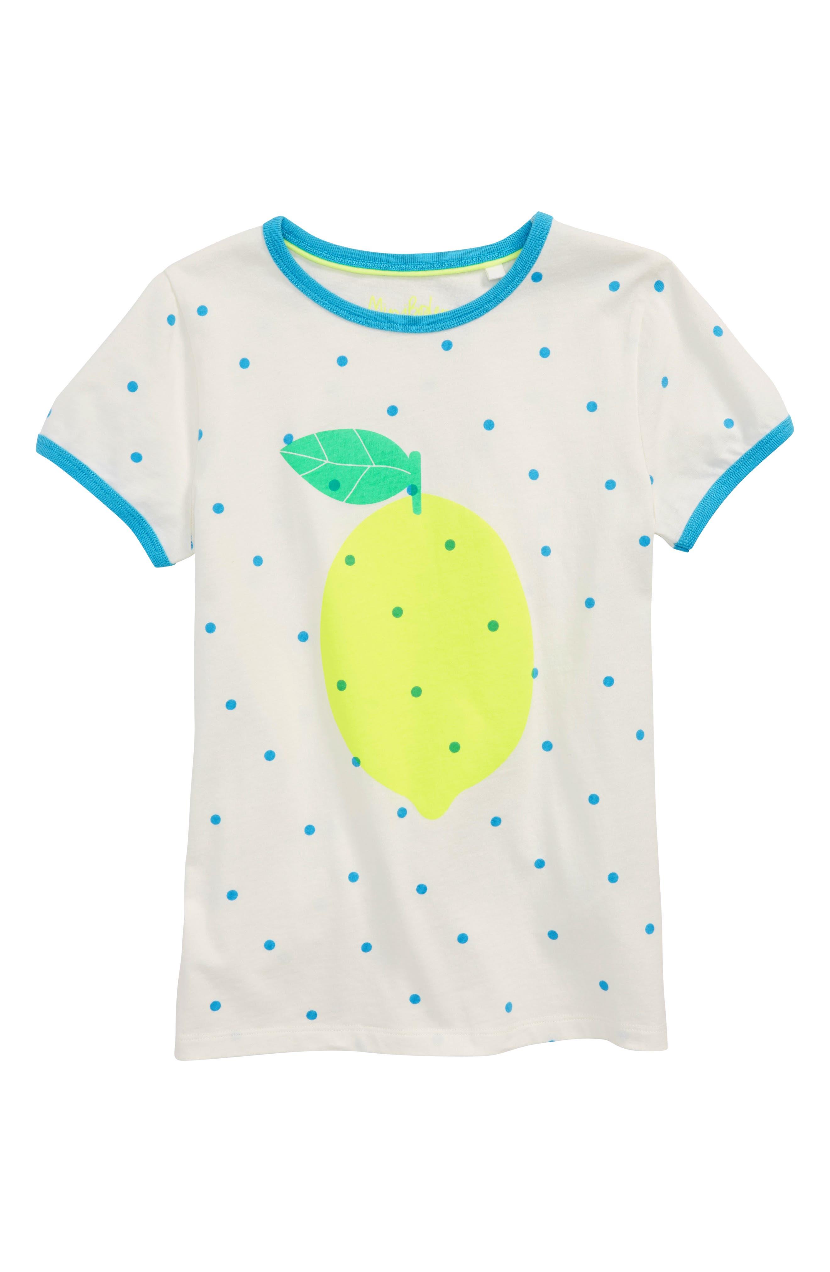 Bright Lemon Tee,                             Main thumbnail 1, color,                             Ivory/ Sail Confetti Spot Ivo