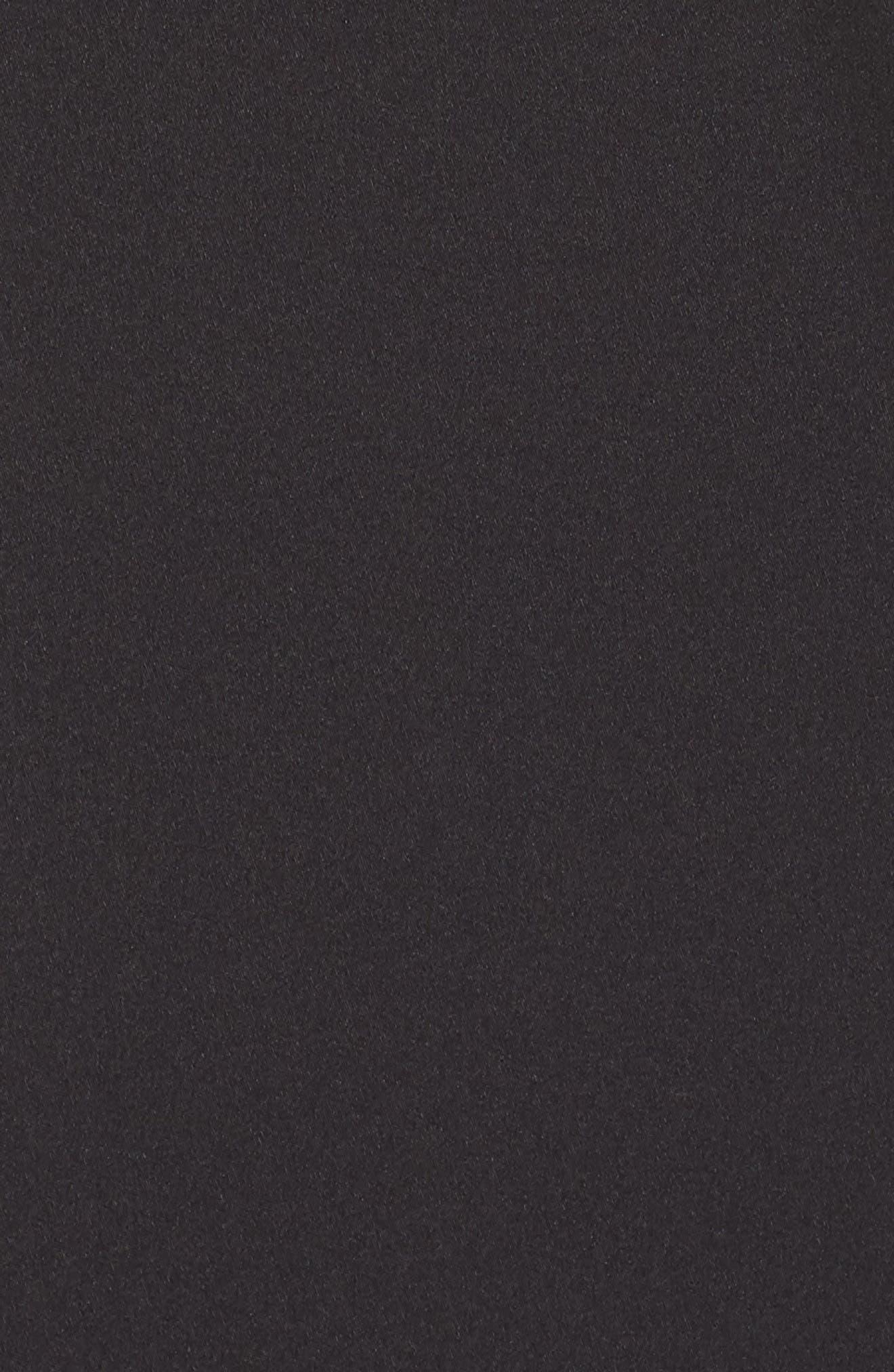 One-Shoulder Gown,                             Alternate thumbnail 5, color,                             Black