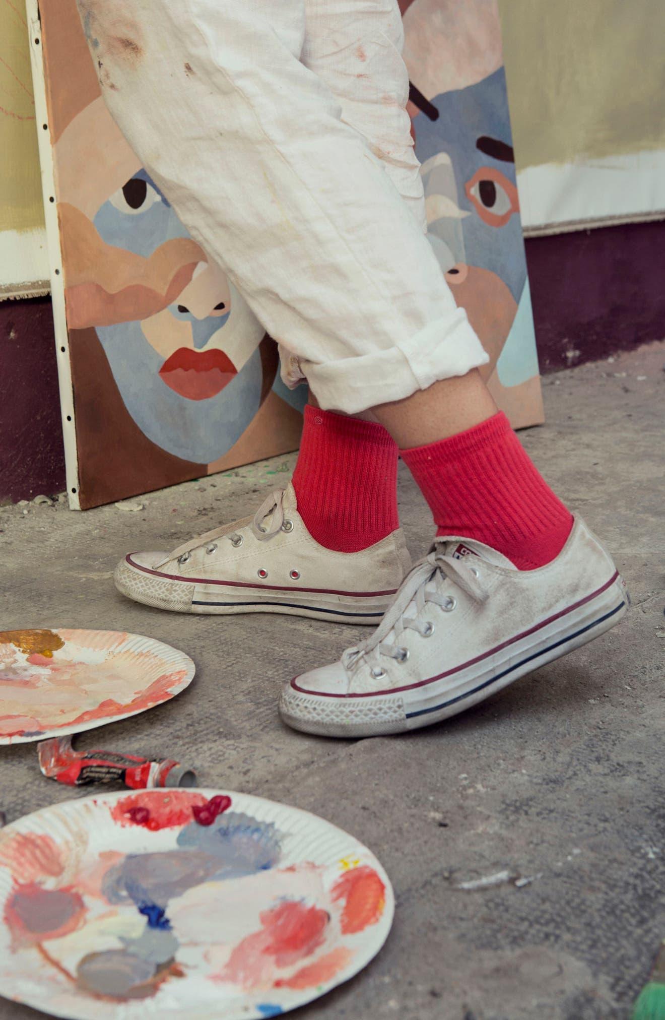 Uncommon Classic Ankle Socks,                             Alternate thumbnail 3, color,