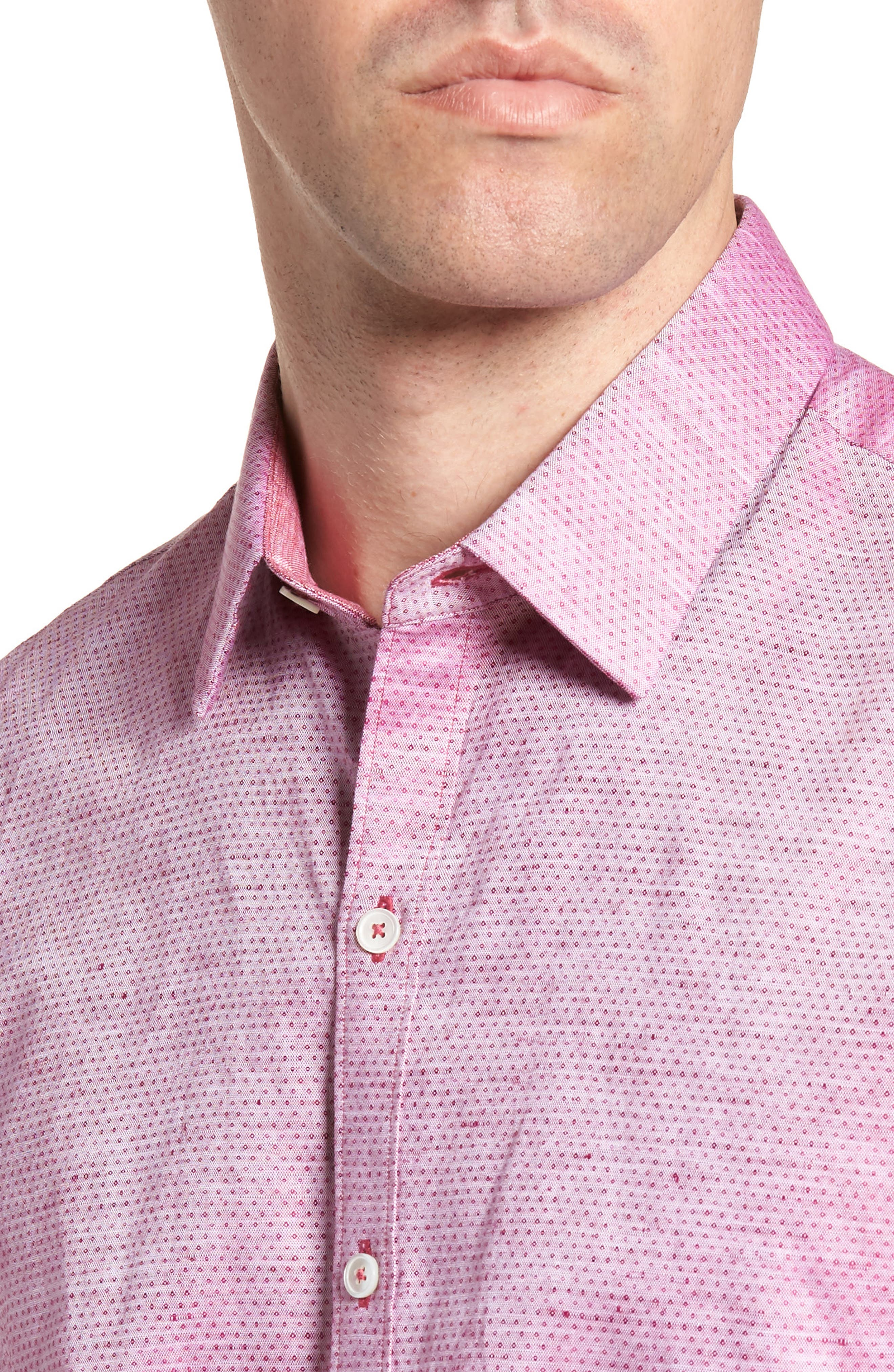 Wilcox Regular Fit Dobby Sport Shirt,                             Alternate thumbnail 2, color,                             Pink