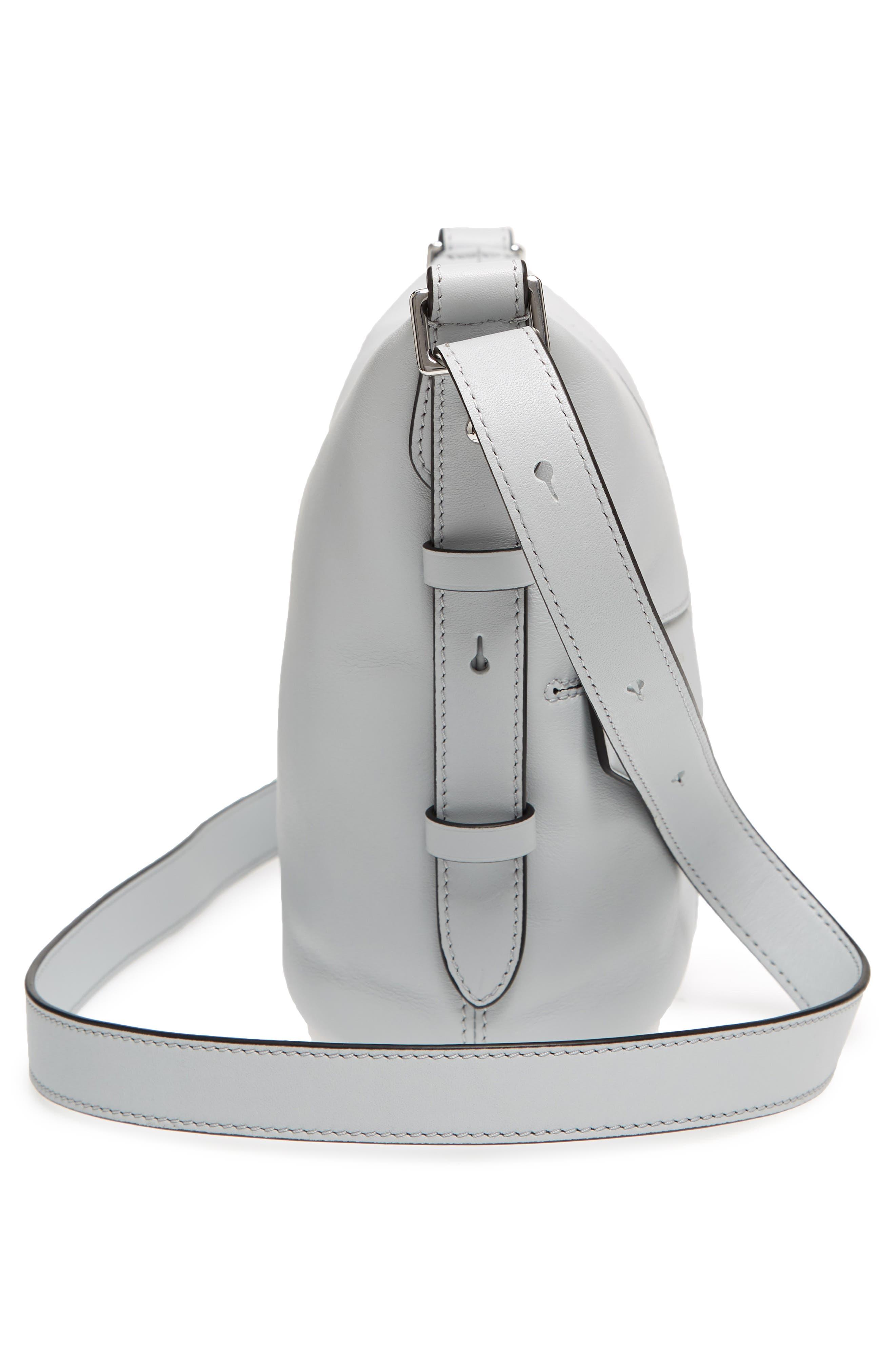 The Mini Sling Convertible Leather Hobo,                             Alternate thumbnail 5, color,                             Light Grey
